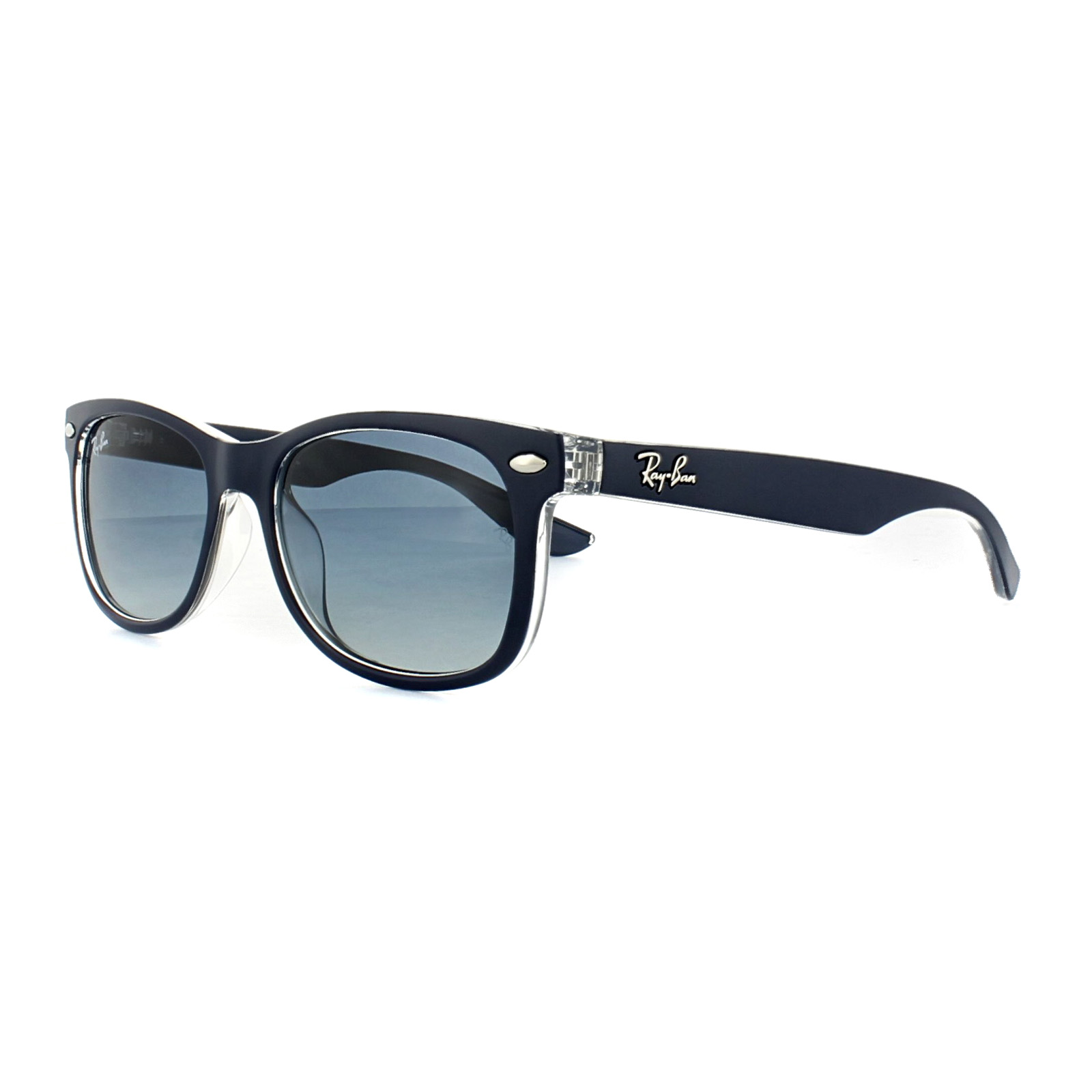 6b38233fc3 Ray-Ban Junior Sunglasses New Wayfarer 9052S 70234L Blue Crystal ...