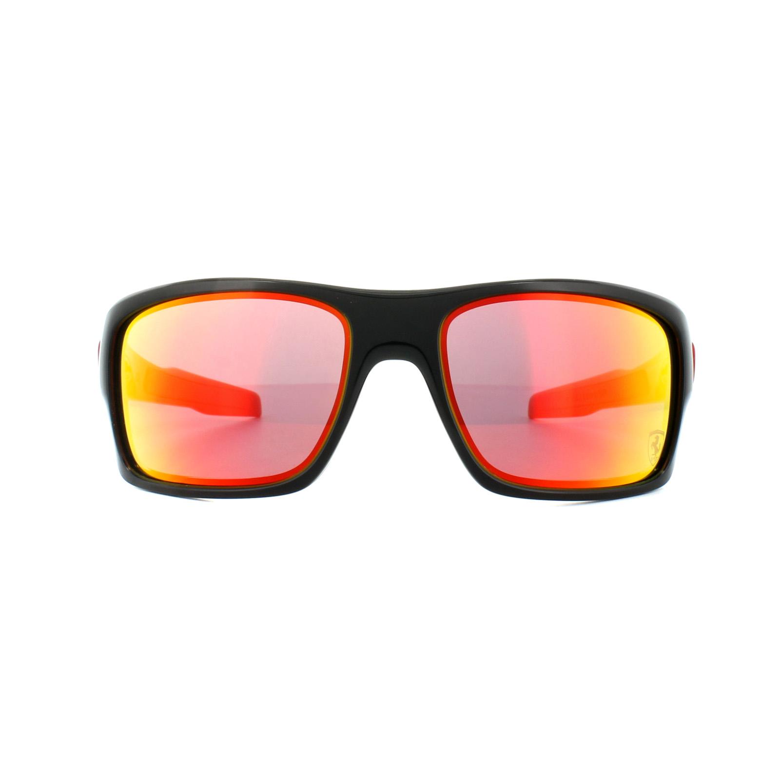 96ea5043bd Sentinel Oakley Sunglasses Turbine OO9263-39 Ferrari Polished Black Ruby  Iridium
