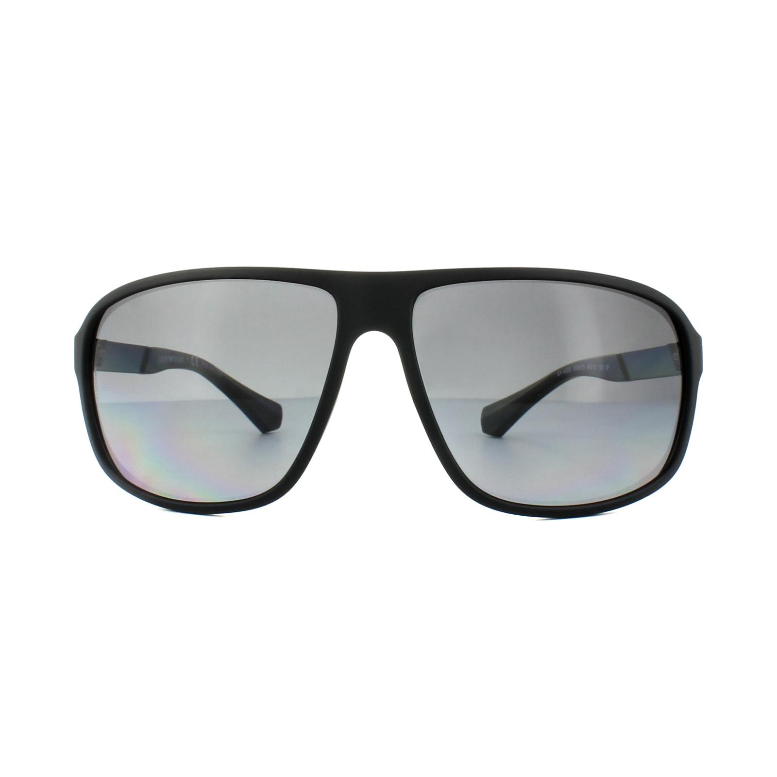 ad582ccb87b5 Sentinel Emporio Armani Sunglasses 4029 5063T3 Black Rubber Grey Gradient  Polarized
