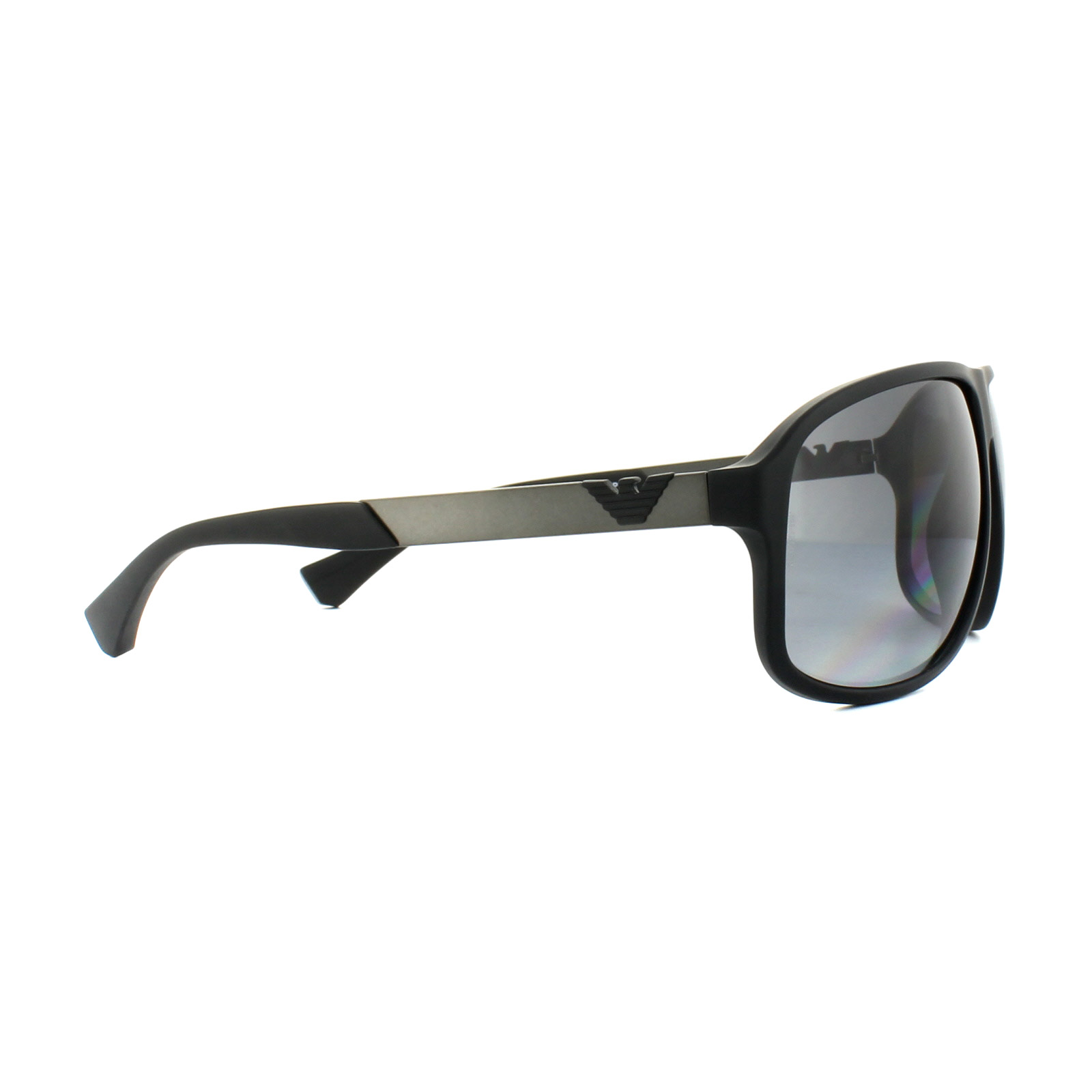 ca9e7052 Details about Emporio Armani Sunglasses 4029 5063T3 Black Rubber Grey  Gradient Polarized