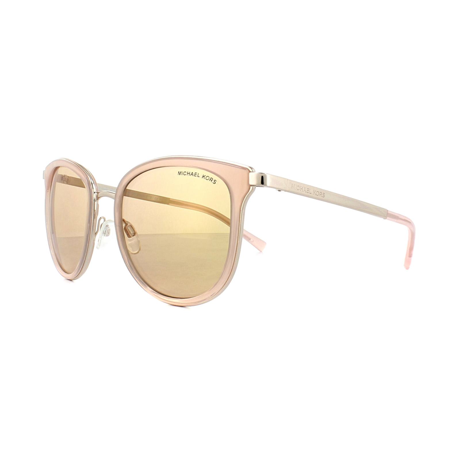 cccccafc02 Details about Michael Kors Sunglasses Adrianna 1 1010 1103R1 Pink Rose Gold  Rose Gold Miirror