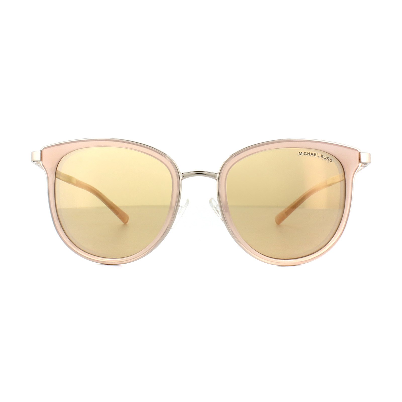 97e711ef85 Sentinel Michael Kors Sunglasses Adrianna 1 1010 1103R1 Pink Rose Gold Rose  Gold Miirror