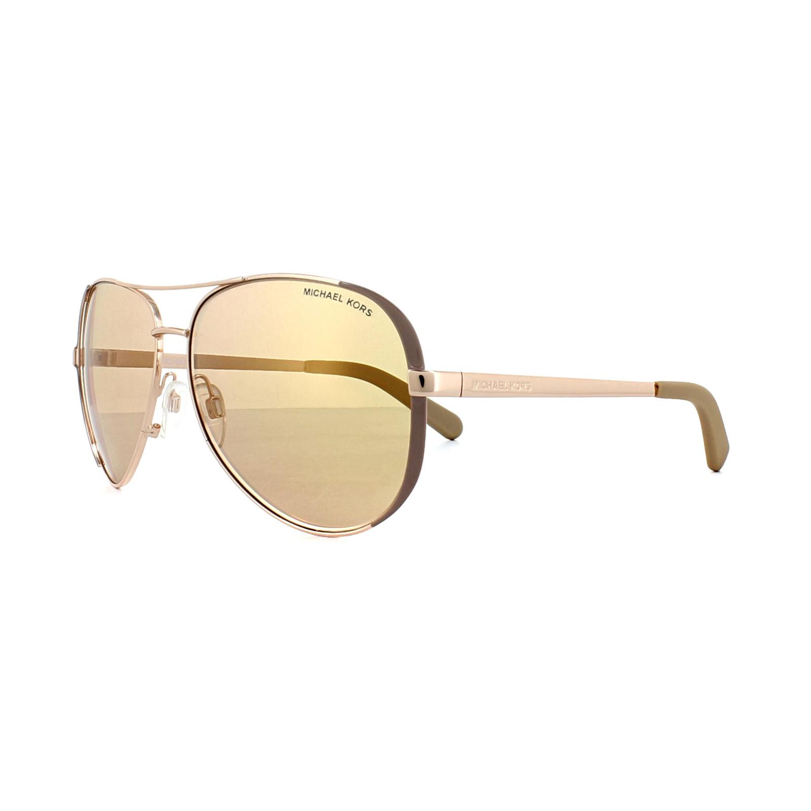 bf66798d46ce5 CENTINELA Michael Kors gafas de sol Chelsea 5004 1017R1 oro rosa pulido oro  rosa espejo