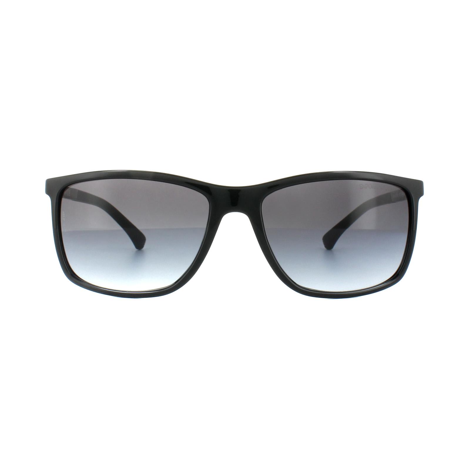 a084ae4b54f Sentinel Emporio Armani Sunglasses EA4058 5017 8G Black Grey Gradient
