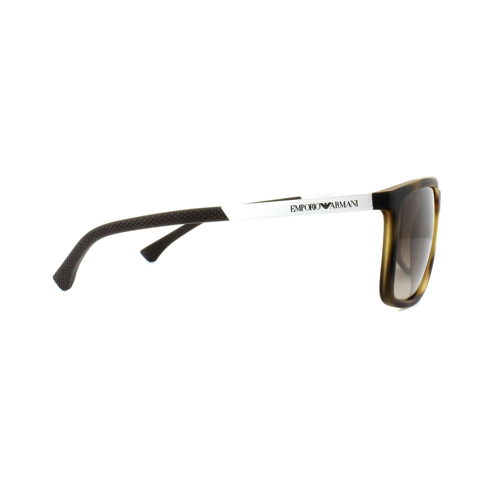 fc9fd5ca0fc Sentinel Emporio Armani Sunglasses EA4058 5594 13 Havana Rubber Brown  Gradient