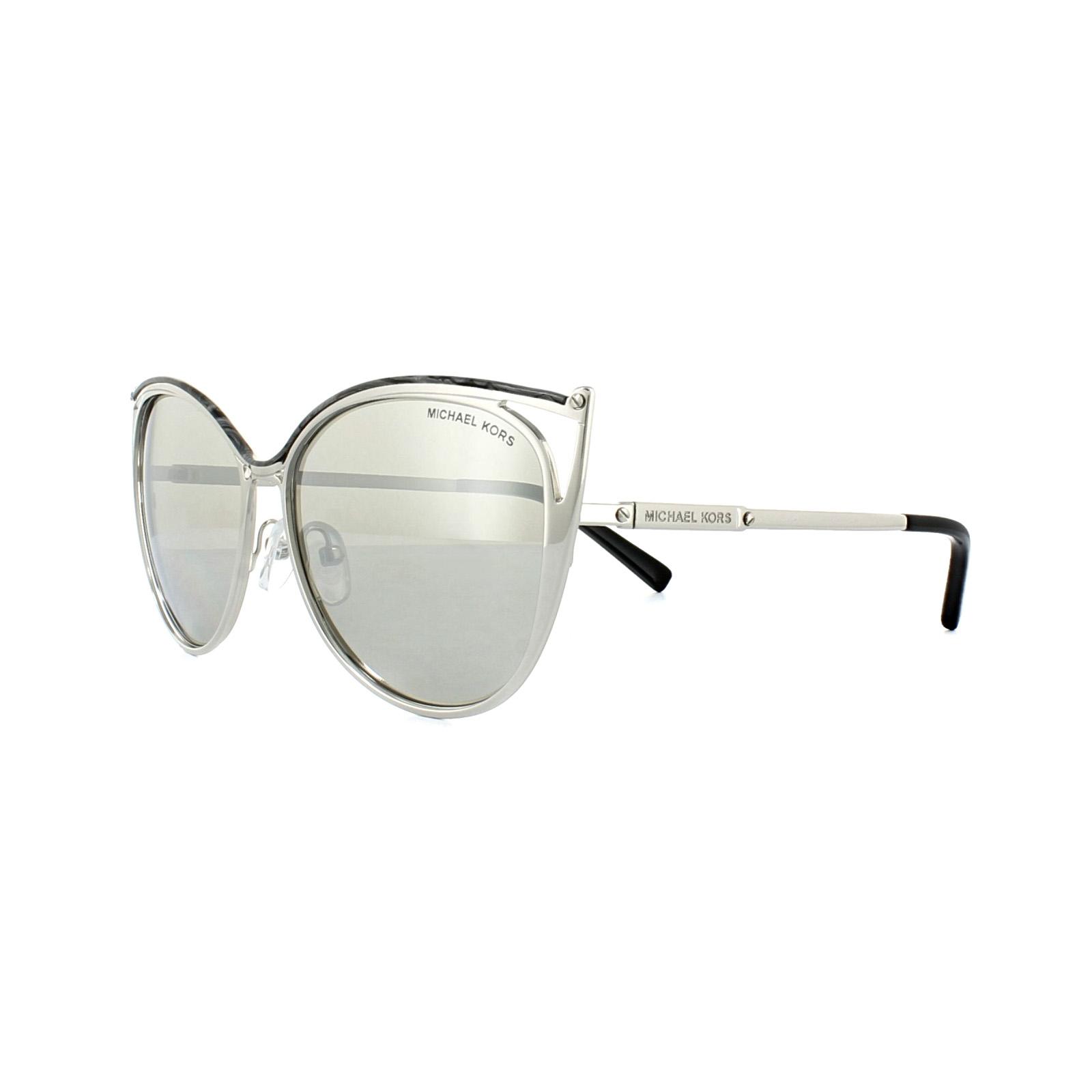c1b135f5ac4 Sentinel Michael Kors Sunglasses Ina 1020 1166 6G Silver Silver Mirror