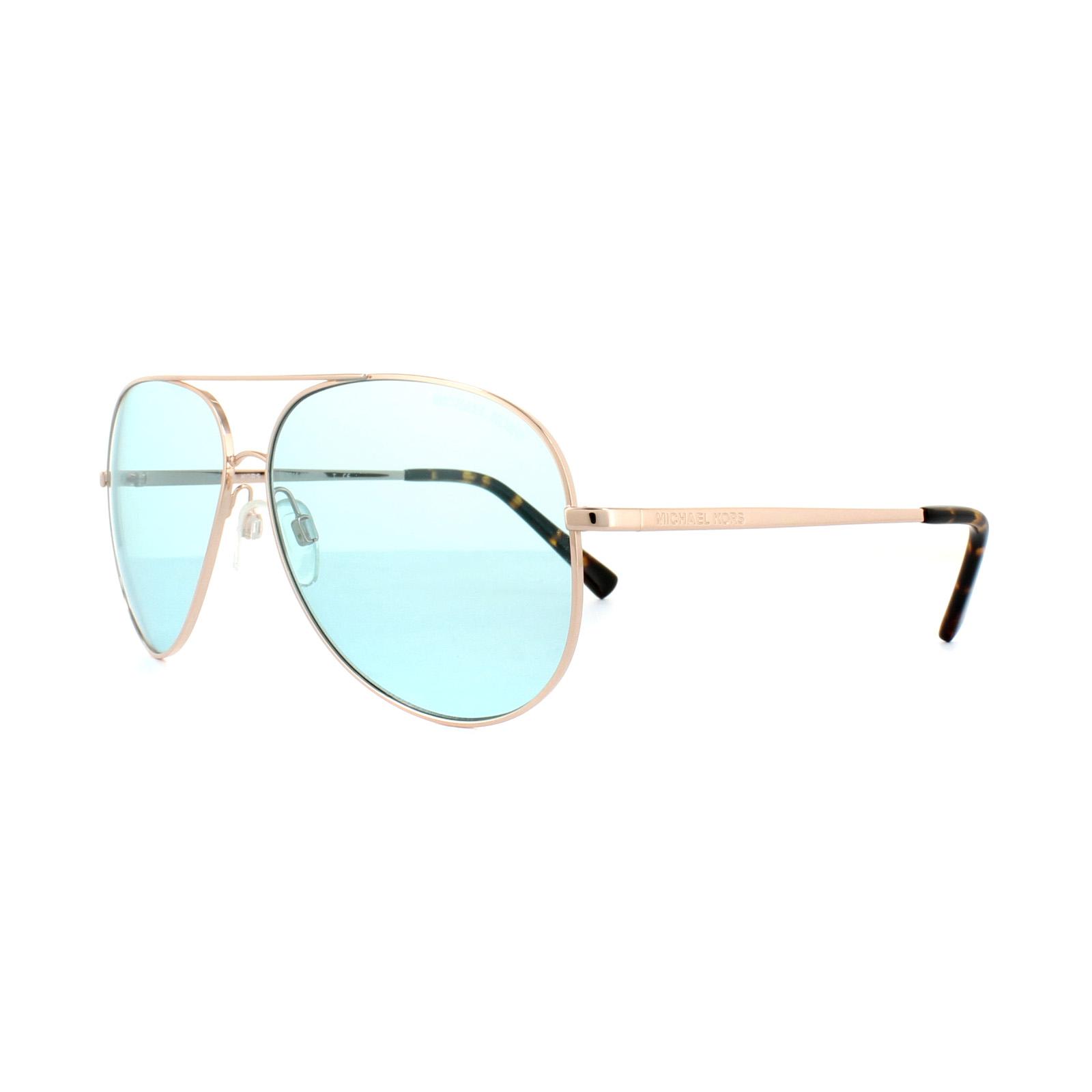 c9b19efec0 Michael Kors Sunglasses Kendall 1 5016 1026 65 Rose Gold Teal ...
