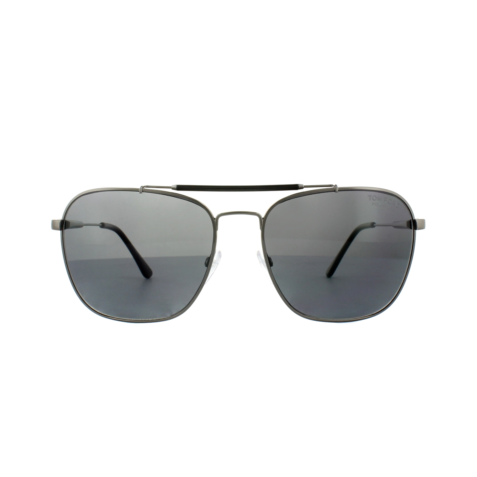 7ec1a5231848 Sentinel Tom Ford Sunglasses FT0377 Edward O9D Matt Ruthenium Grey Polarized