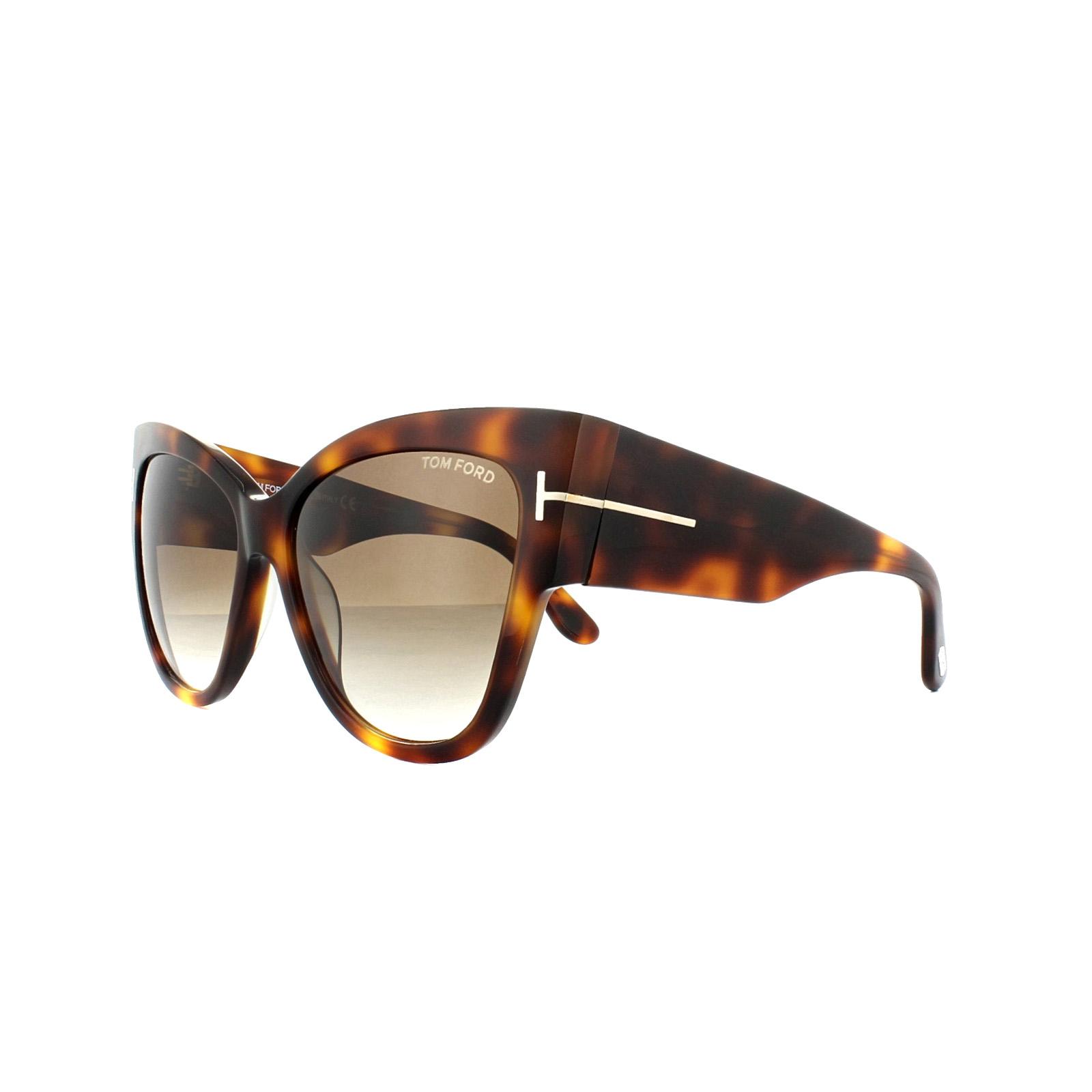 39236d66c6 Sentinel Tom Ford Sunglasses 0371 Anoushka 53F Blonde Havana Brown Gradient