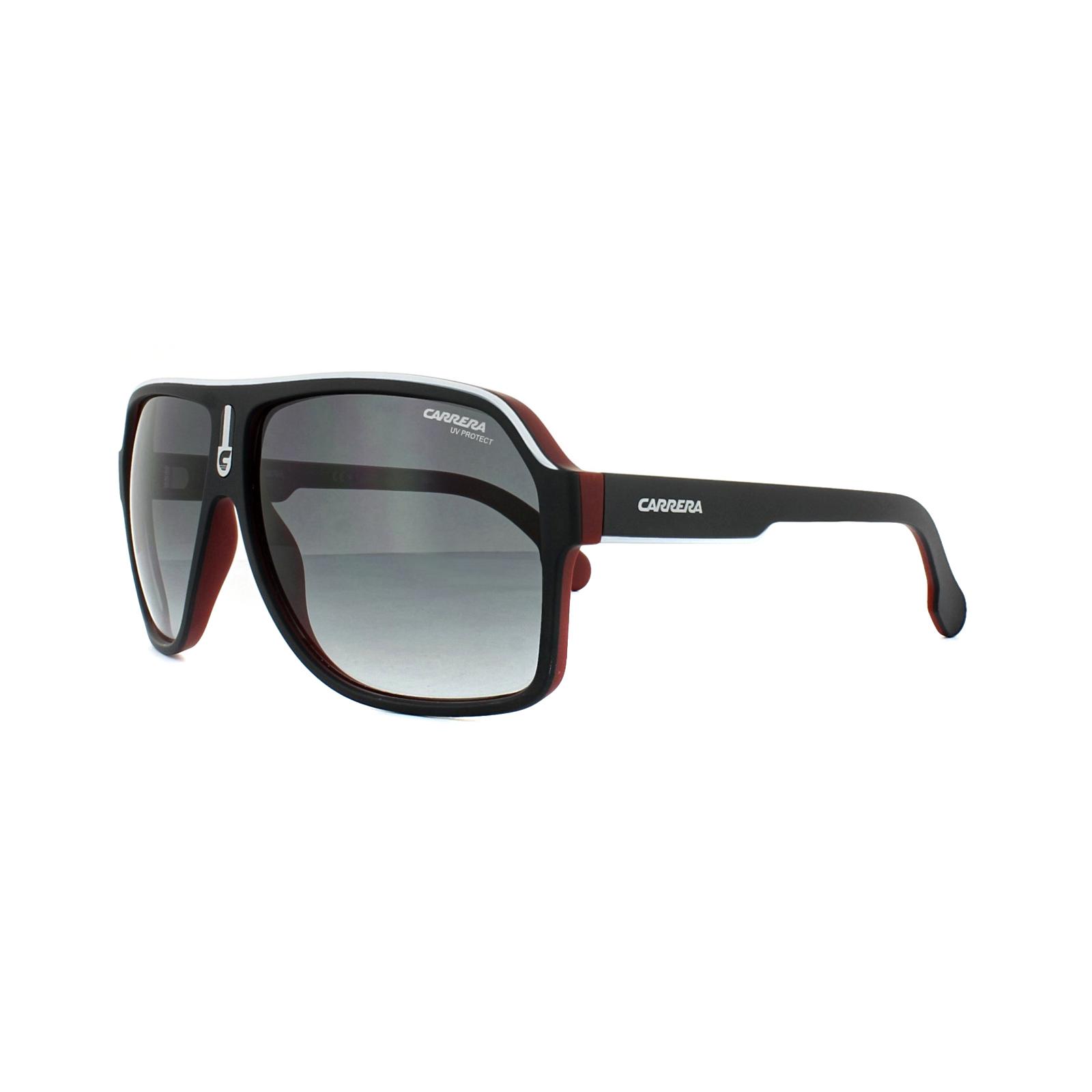 Carrera Eyewear Herren Sonnenbrille » CARRERA 1001/S«, schwarz, BLX/9O - schwarz/grau