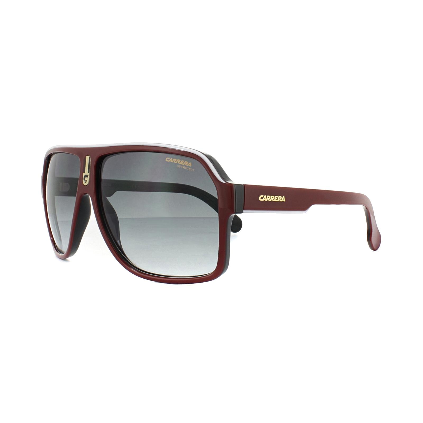 Sentinel Carrera Sunglasses 1001 S 0A4 9O Red Black Dark Grey Gradient 29fc8fa08dcf