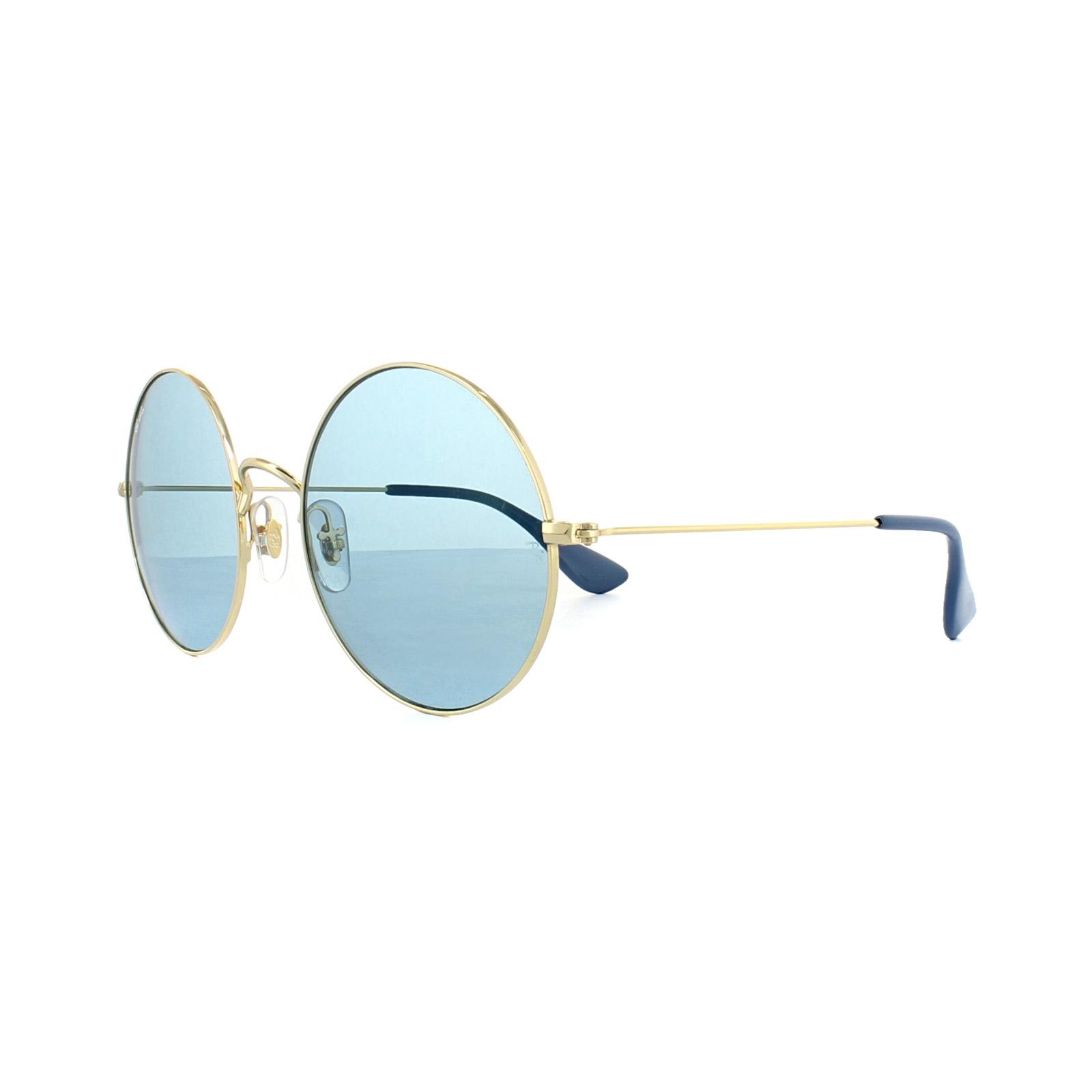 3b25fe625f Sentinel Ray-Ban Sunglasses Ja-Jo 3592 001 F7 Gold Light Blue