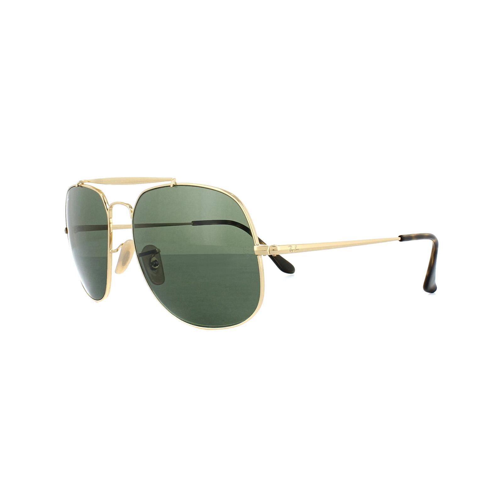 b3bc00f7b9 Ray-Ban Sunglasses General 3561 001 Gold Green 8053672730333