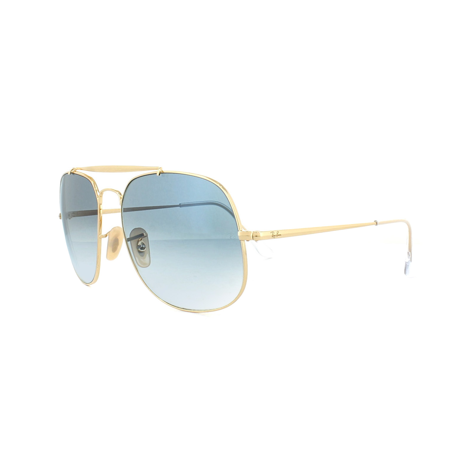 26e1983381e Sentinel Ray-Ban Sunglasses General 3561 001 3F Gold Light Blue Gradient
