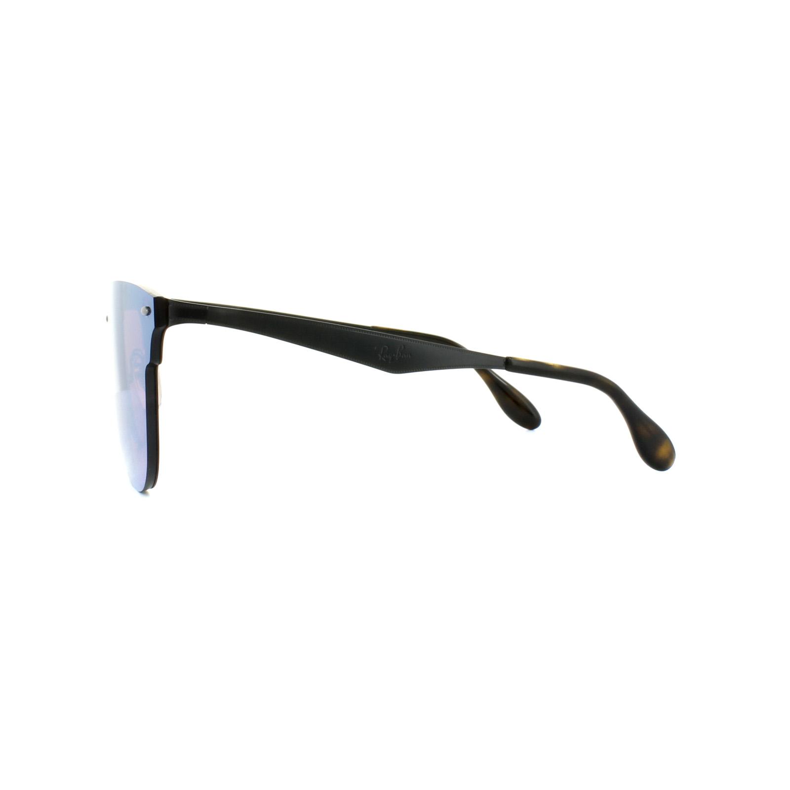 cd060fd44c777 CENTINELA Gafas de sol Ray-Ban Clubmaster 3576N de Blaze 153 7V negro  espejo azul