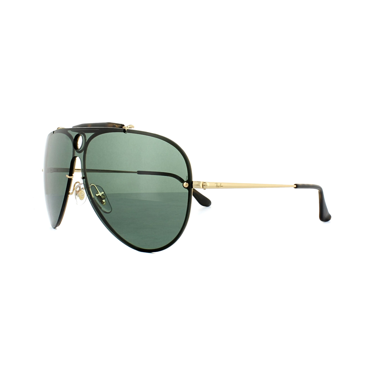 Sentinel Ray-Ban Sunglasses Blaze Shooter 3581N 001 71 Gold Green d3834ec976