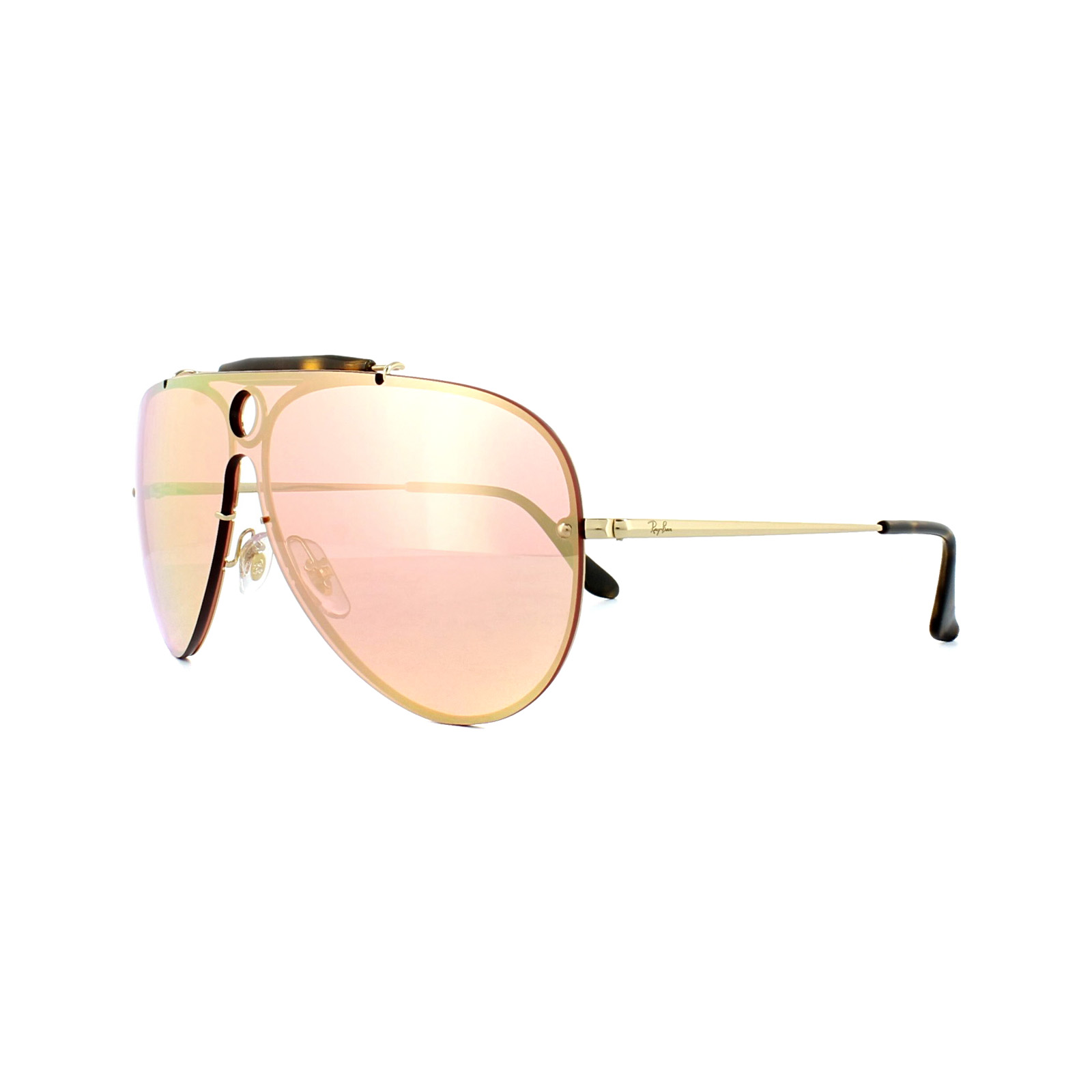 411884230b548 Sentinel Ray-Ban Sunglasses Blaze Shooter 3581N 001 E4 Gold Pink Mirror