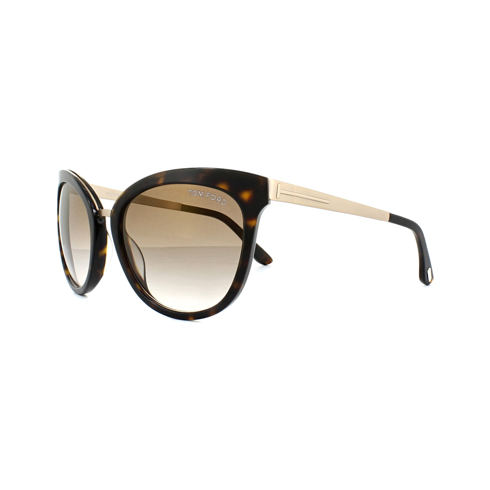 Sentinel Tom Ford Sunglasses 0461 Emma 52G Dark Havana Gold Brown Gradient c9dc190724