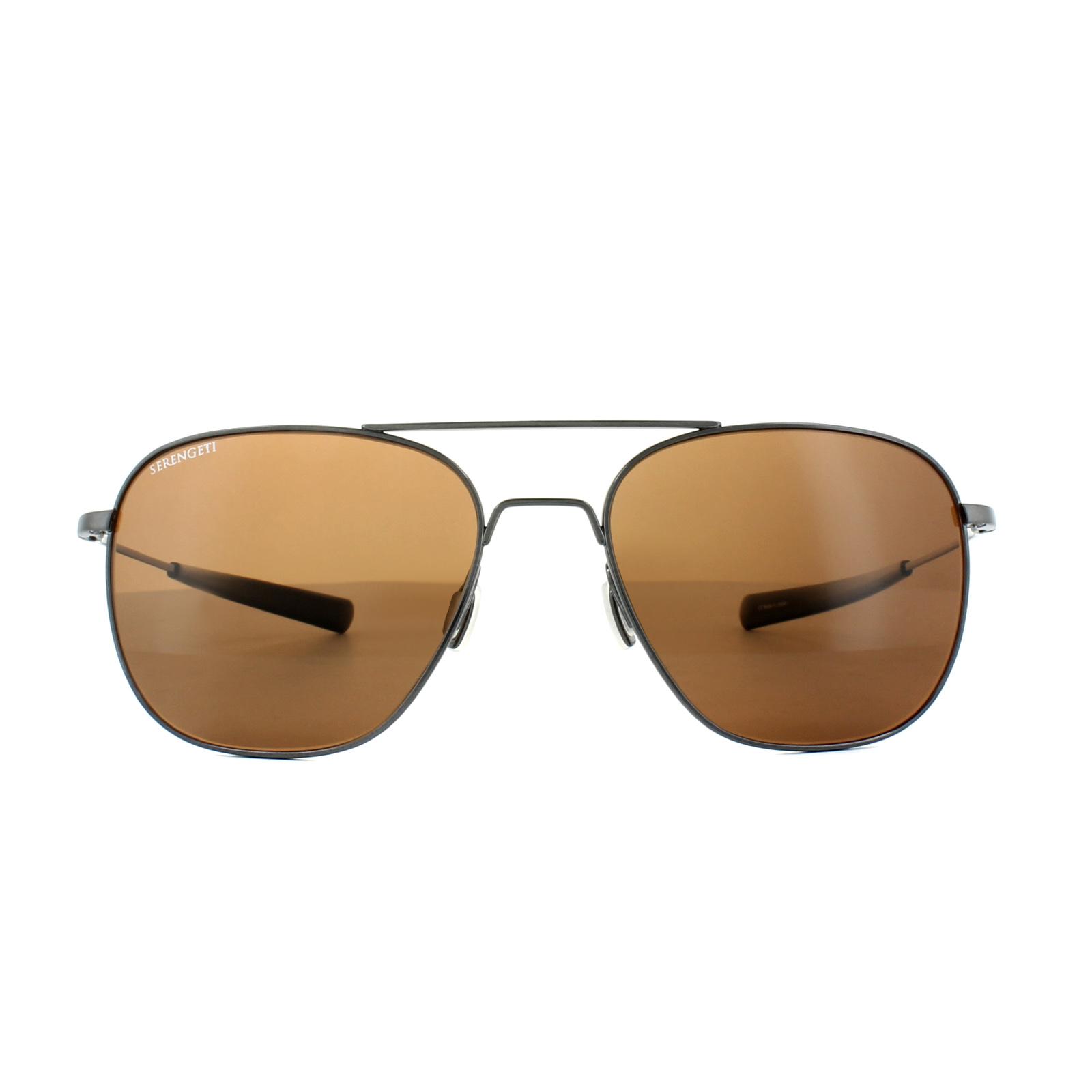 397e72b232a Sentinel Serengeti Sunglasses Aerial 7979 Shiny Hematite Drivers Brown  Polarized