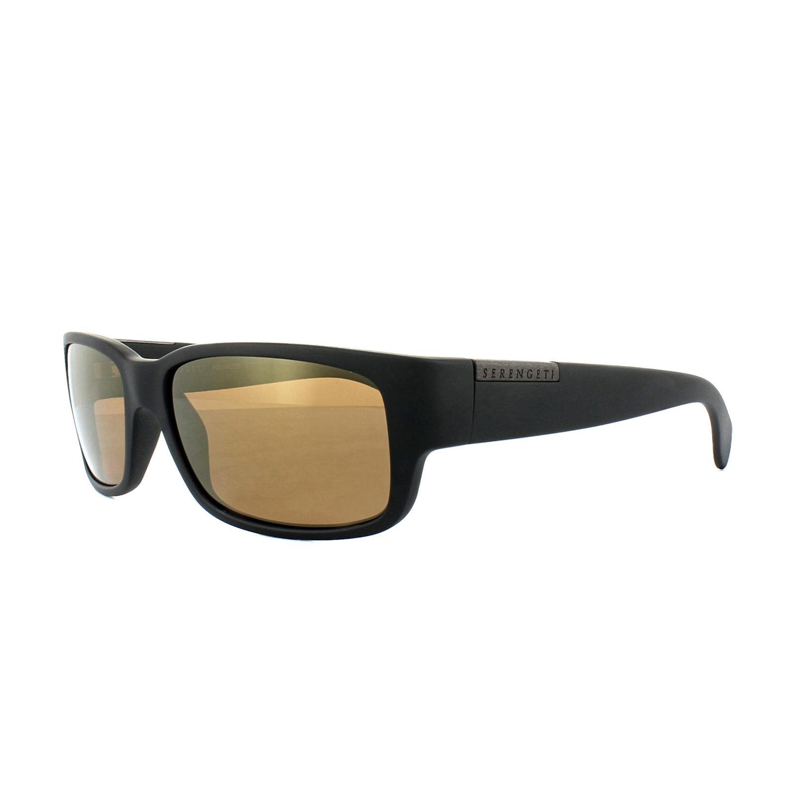 7f53fcbbe5 Sentinel Serengeti Sunglasses Merano 8437 Satin Black Drivers Gold Polarized