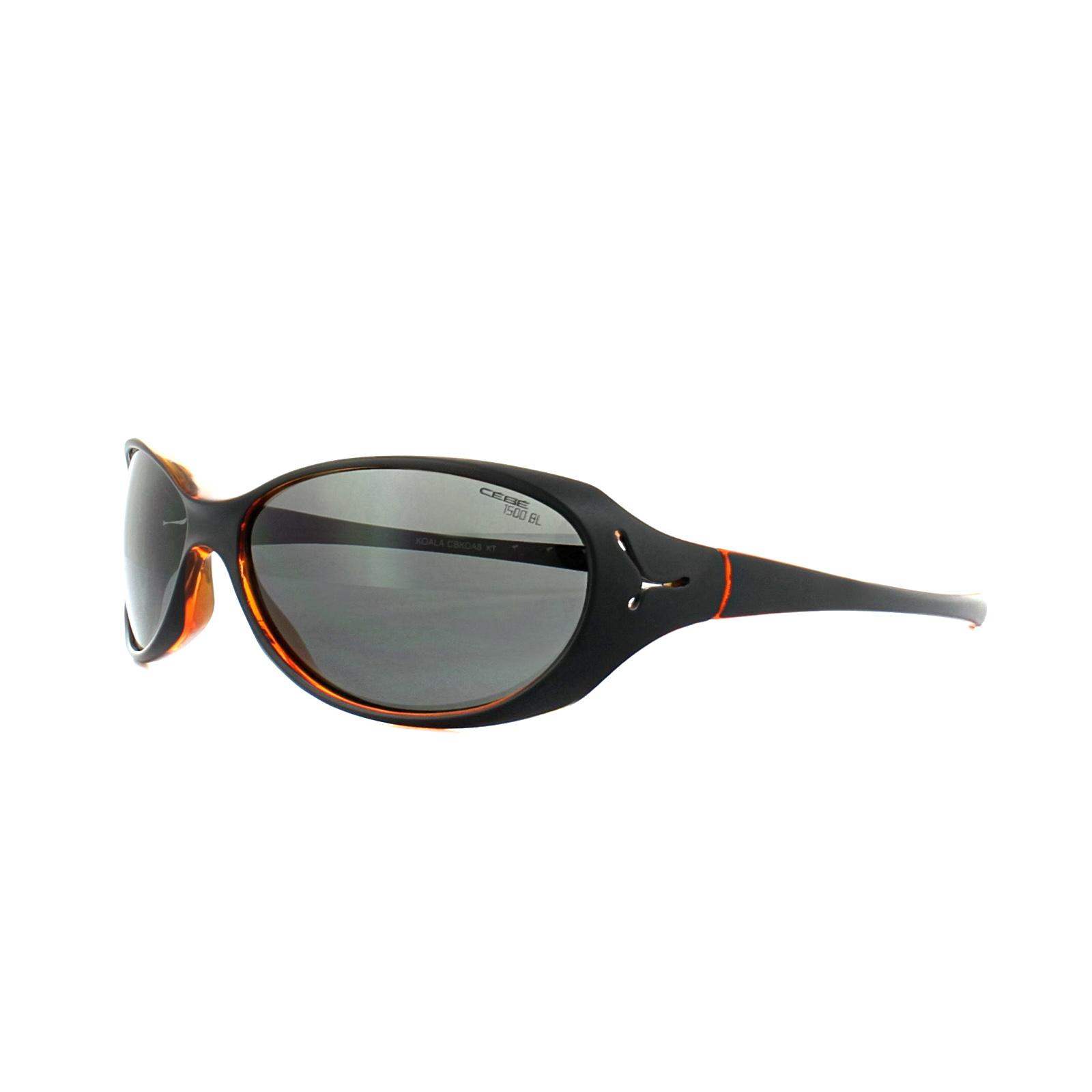 4e3efac06d CENTINELA Cebe Junior gafas de sol Koala CBKOA8 mate negro naranja 1500  gris PC luz azul