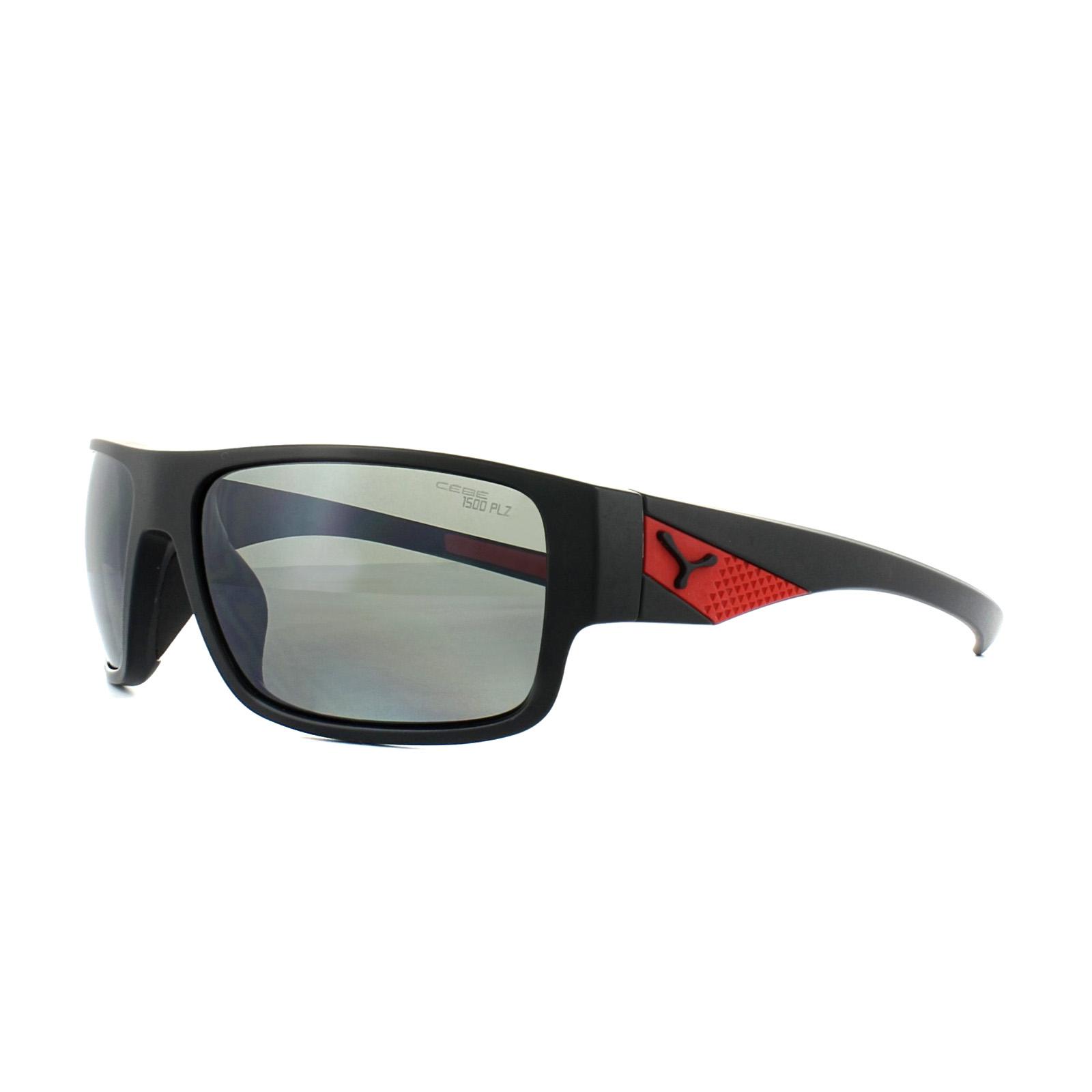 3b78afd49cd2c6 Sentinel Cebe Sunglasses Whisper CBWHISP4 Black Red Grey 1500 AR Silver  Mirror Polarized