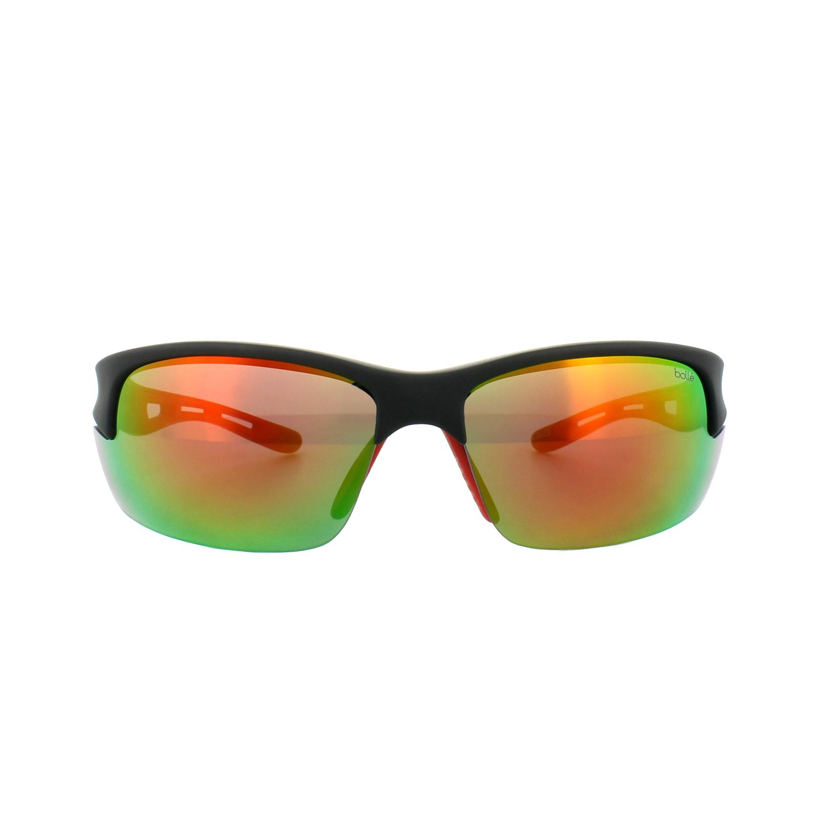 Bolle Sunglasses Bolt S 11776 Matt Black Red TNS Fire