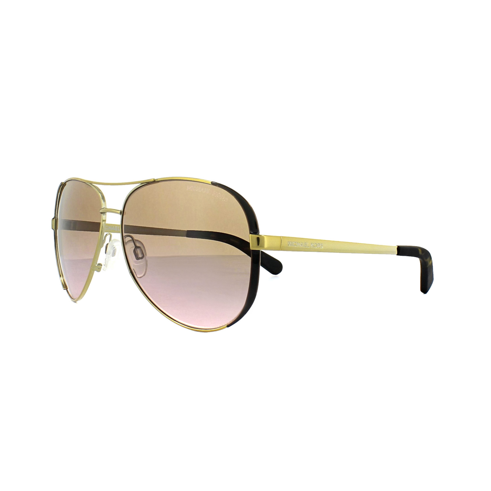 1a54986a5e958 Sentinel Michael Kors Sunglasses Chelsea 5004 1014 14 Gold Dark Chocolate  Brown Rose Grad