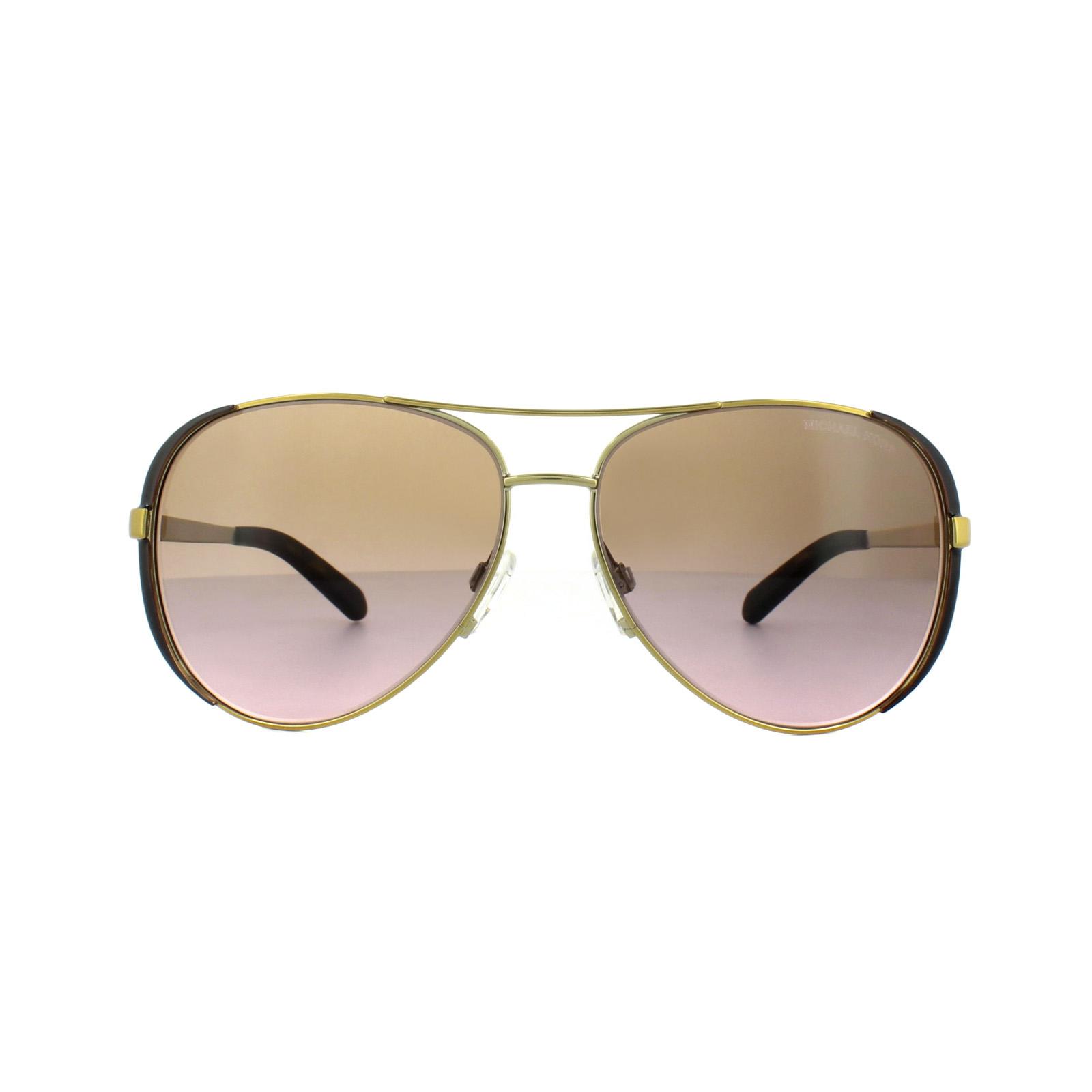 6758e2cfd1 Sentinel Thumbnail 2. Sentinel Michael Kors Sunglasses Chelsea 5004 1014 14  Gold ...