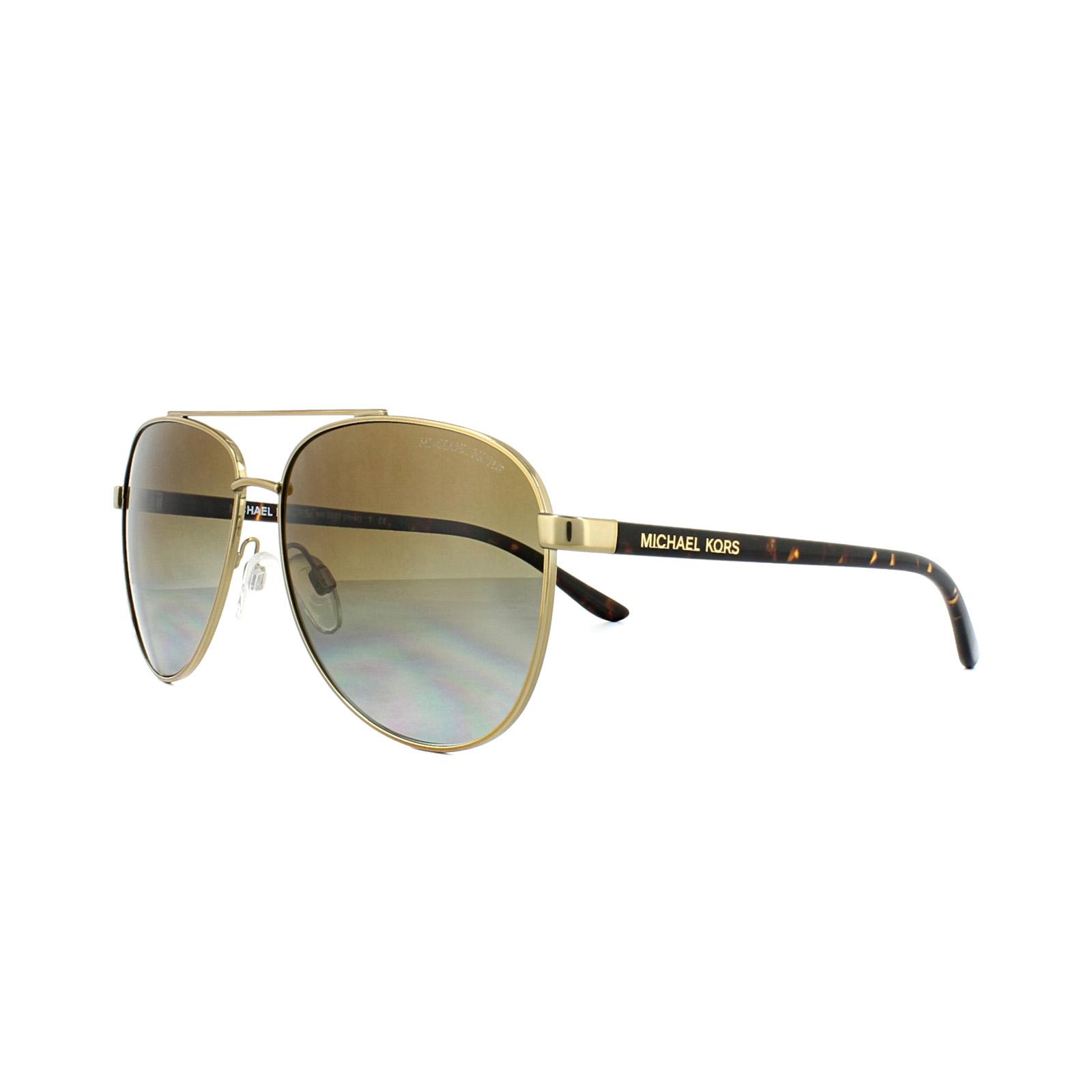 Sentinel Michael Kors Sunglasses Hvar 5007 1044 T5 Gold Havana Brown  Gradient Polarized 07653501e0