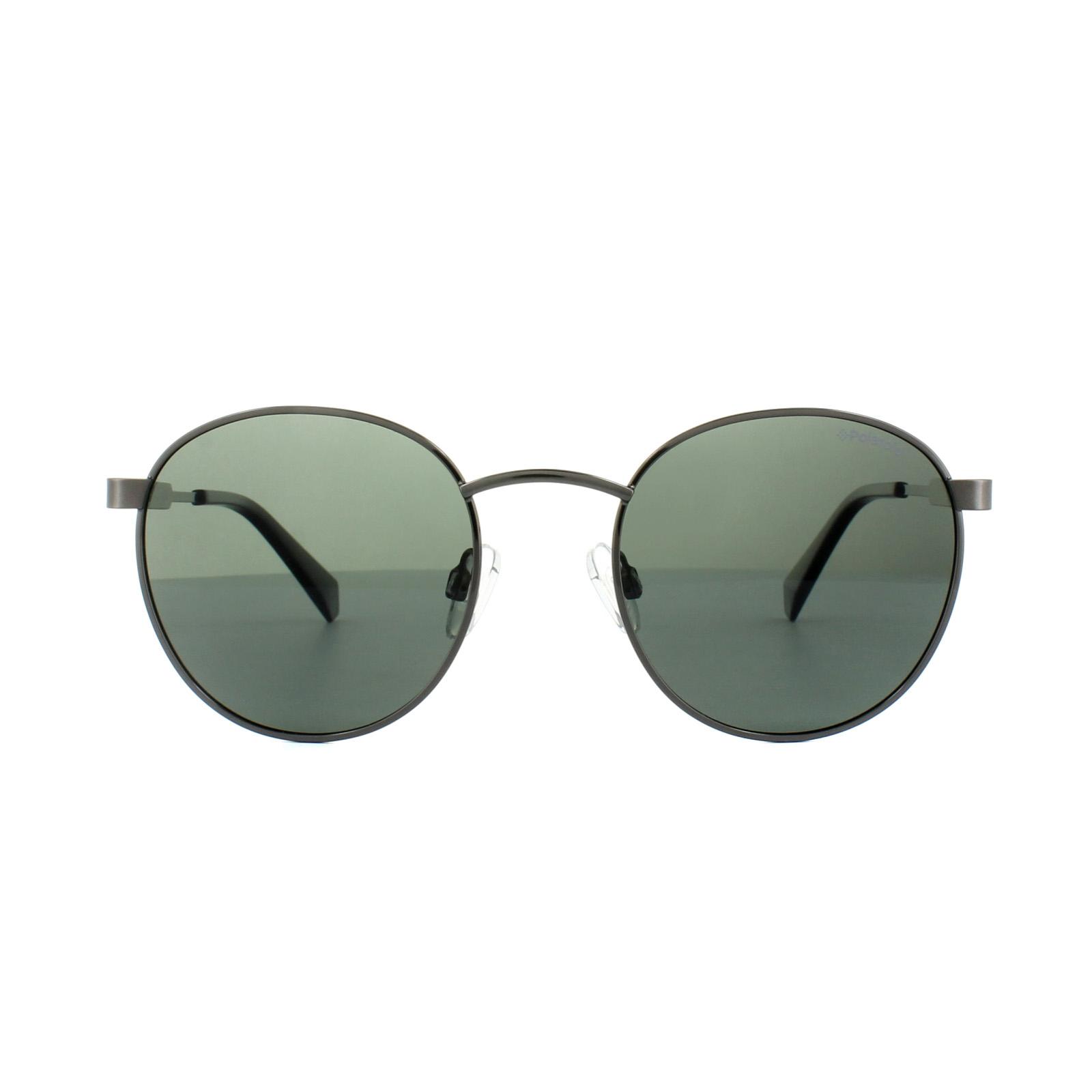 41d6f15728 Sentinel Polaroid Sunglasses PLD 2053 S KJ1 UC Dark Ruthenium Green  Polarized
