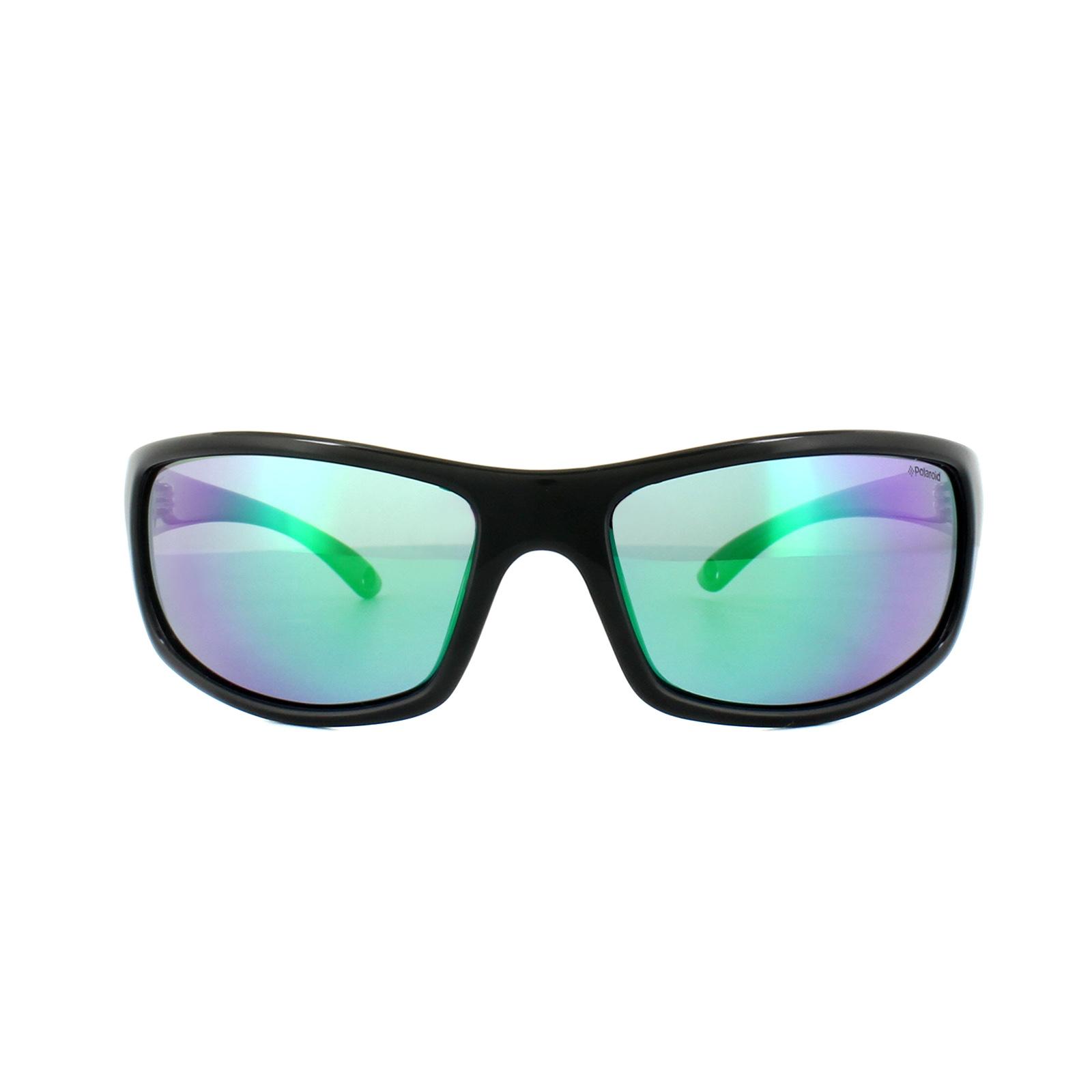 Polaroid Herren Sonnenbrille » PLD 7017/S«, schwarz, 807/5Z - schwarz/ grün