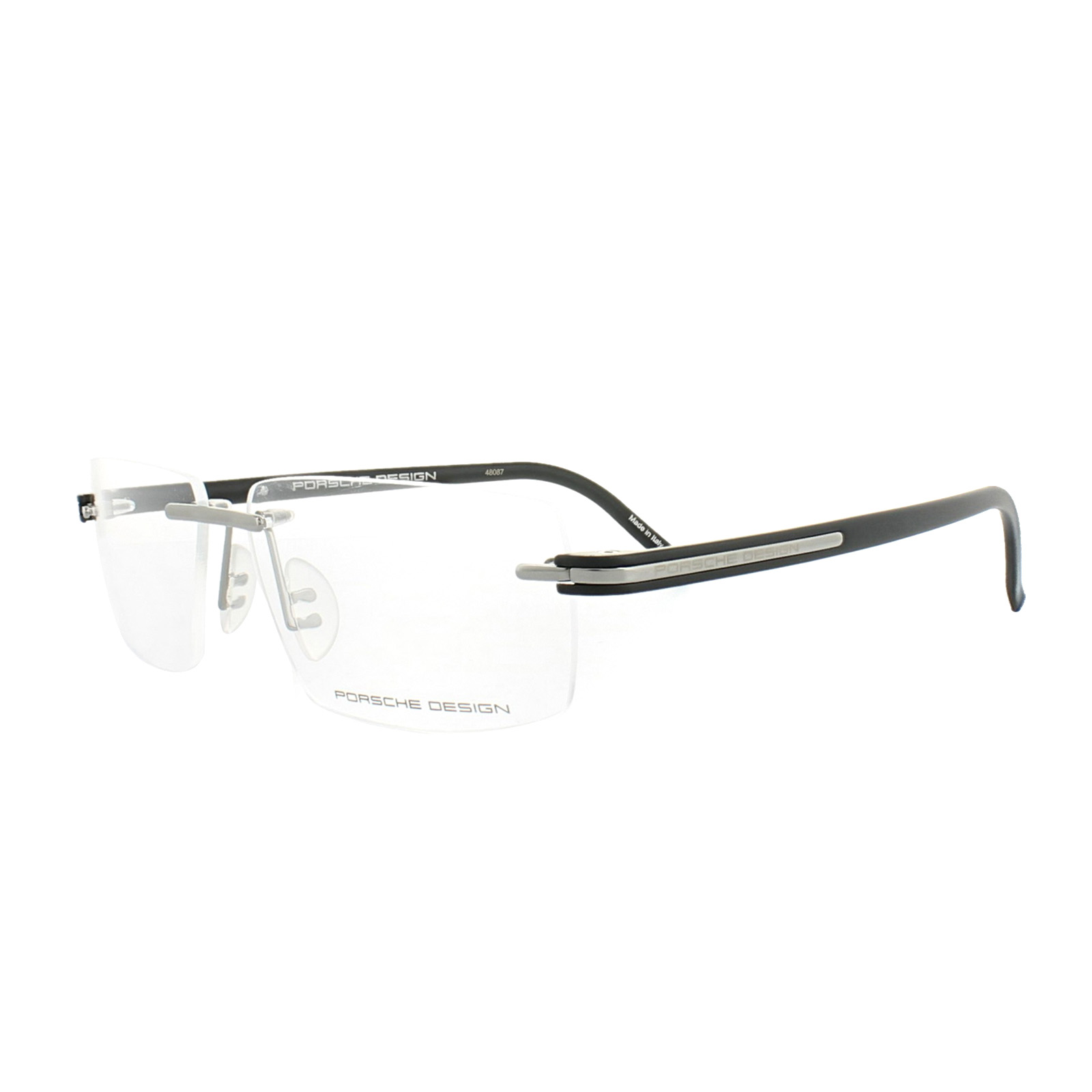 eac32801311 Sentinel Porsche Design Glasses Frames P8153 C Grey Matt Black Clear