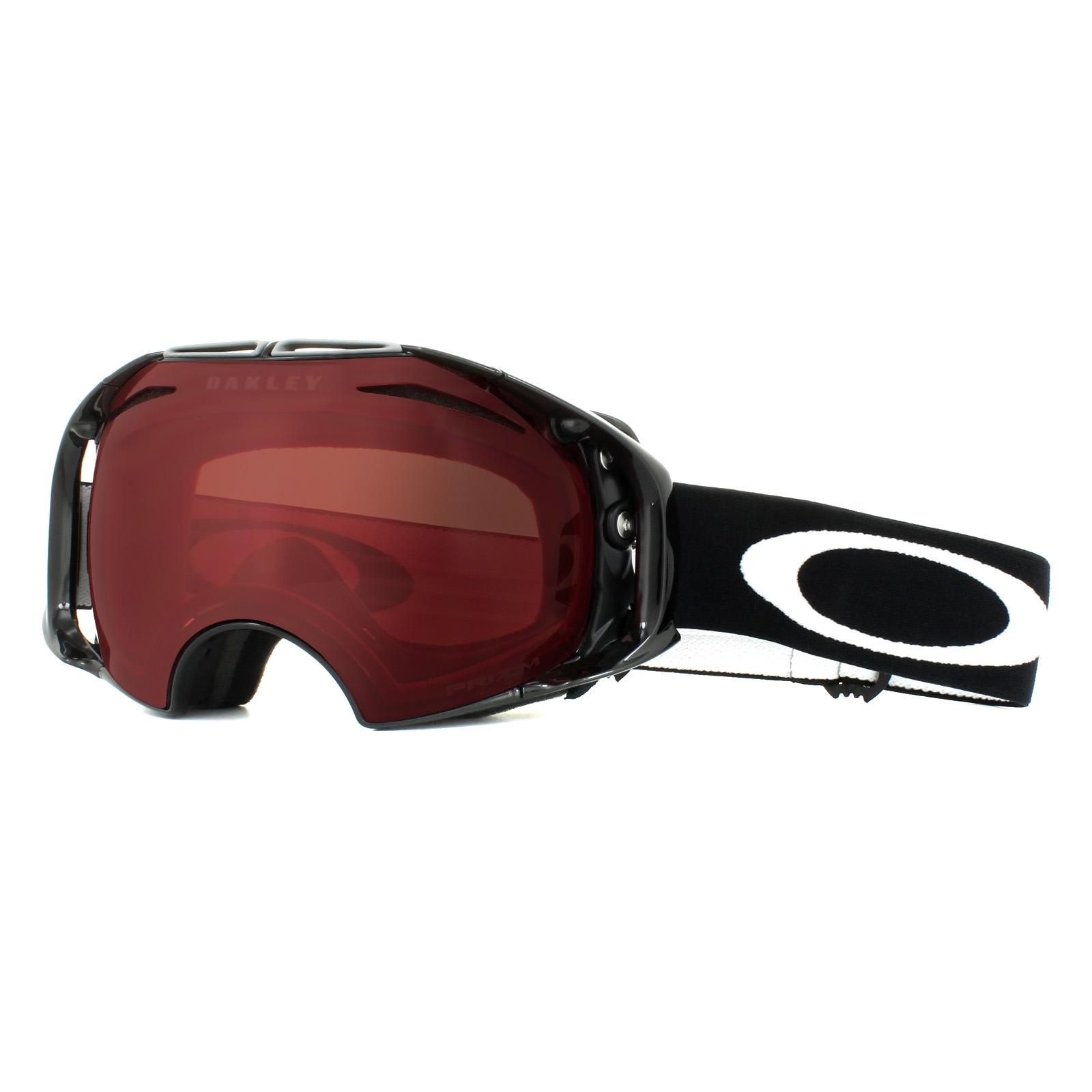 b0720f70b3c Details about Oakley Ski Goggles Airbrake OO7037-42 Jet Black Prizm Rose    Dark Grey
