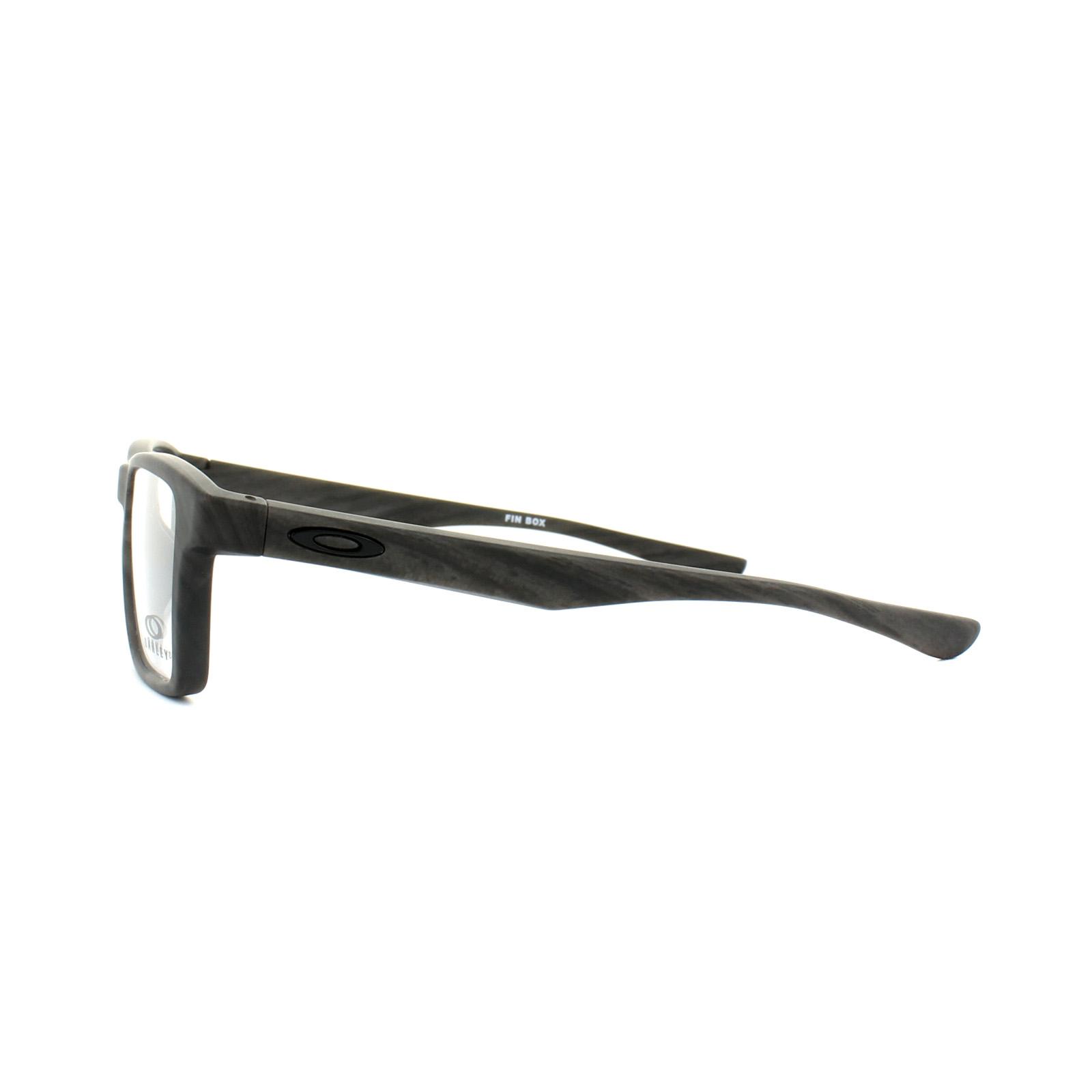 Oakley Glasses Frames Fin Box Trubridge OX8108-03 Woodgrain | eBay