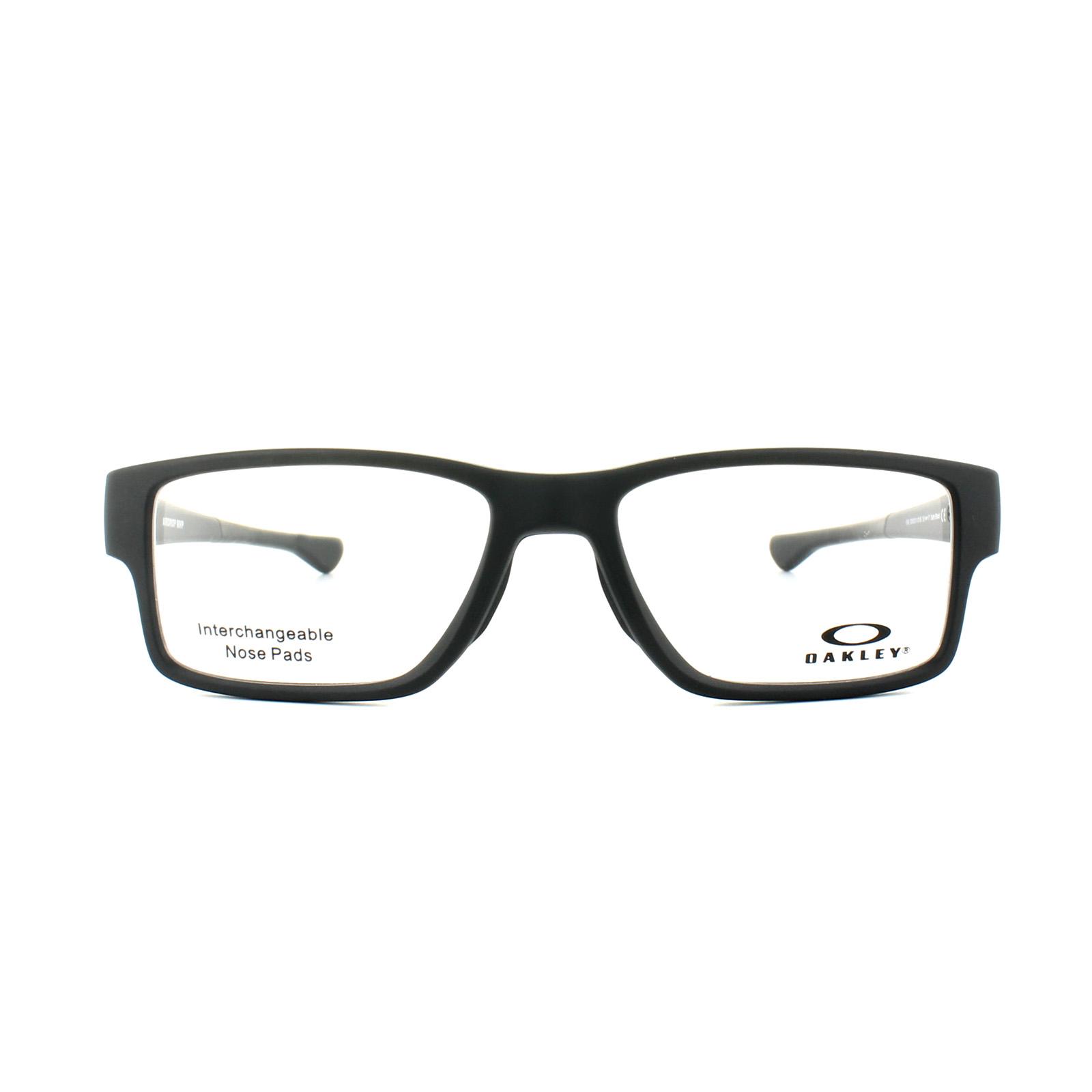 0903064606f Sentinel Oakley Glasses Frames Airdrop Trubridge OX8121-01 Satin Black
