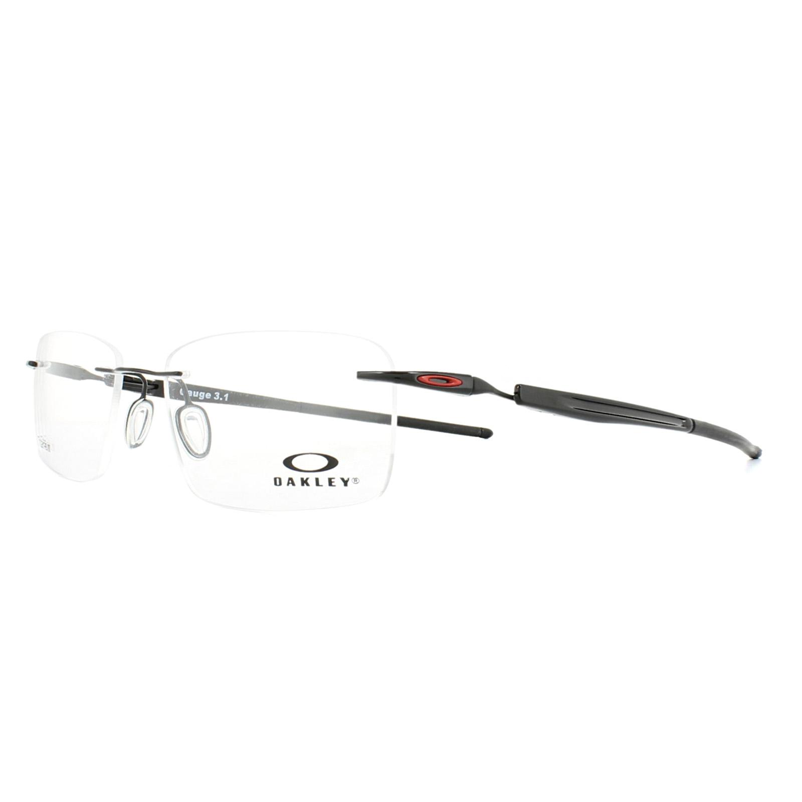 ed57434f1b Sentinel Oakley Glasses Frames Gauge 3.1 OX5126-04 Polished Black