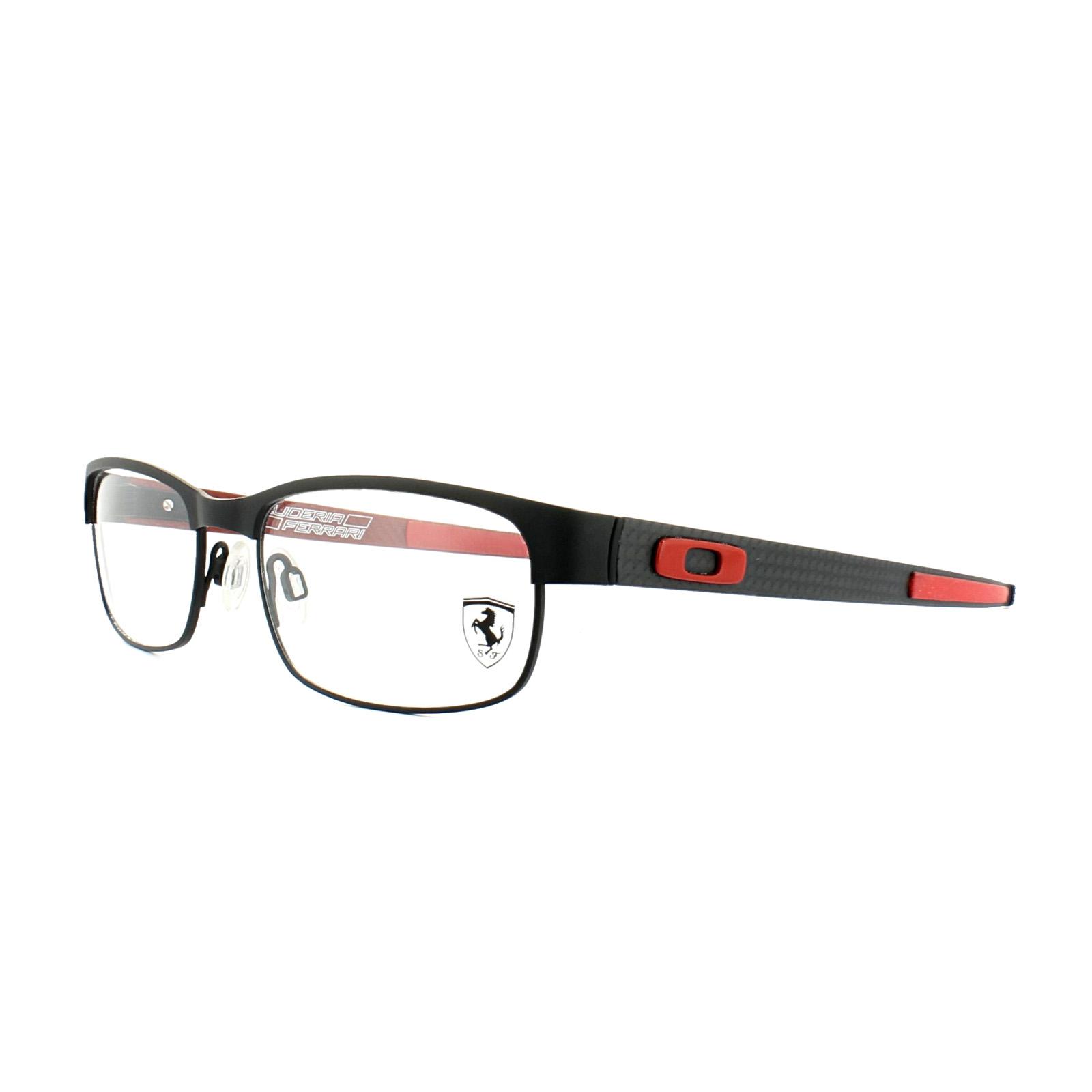 Oakley Glasses Frames Carbon Plate OX5079-04 Black Ferrari Red Mens ...