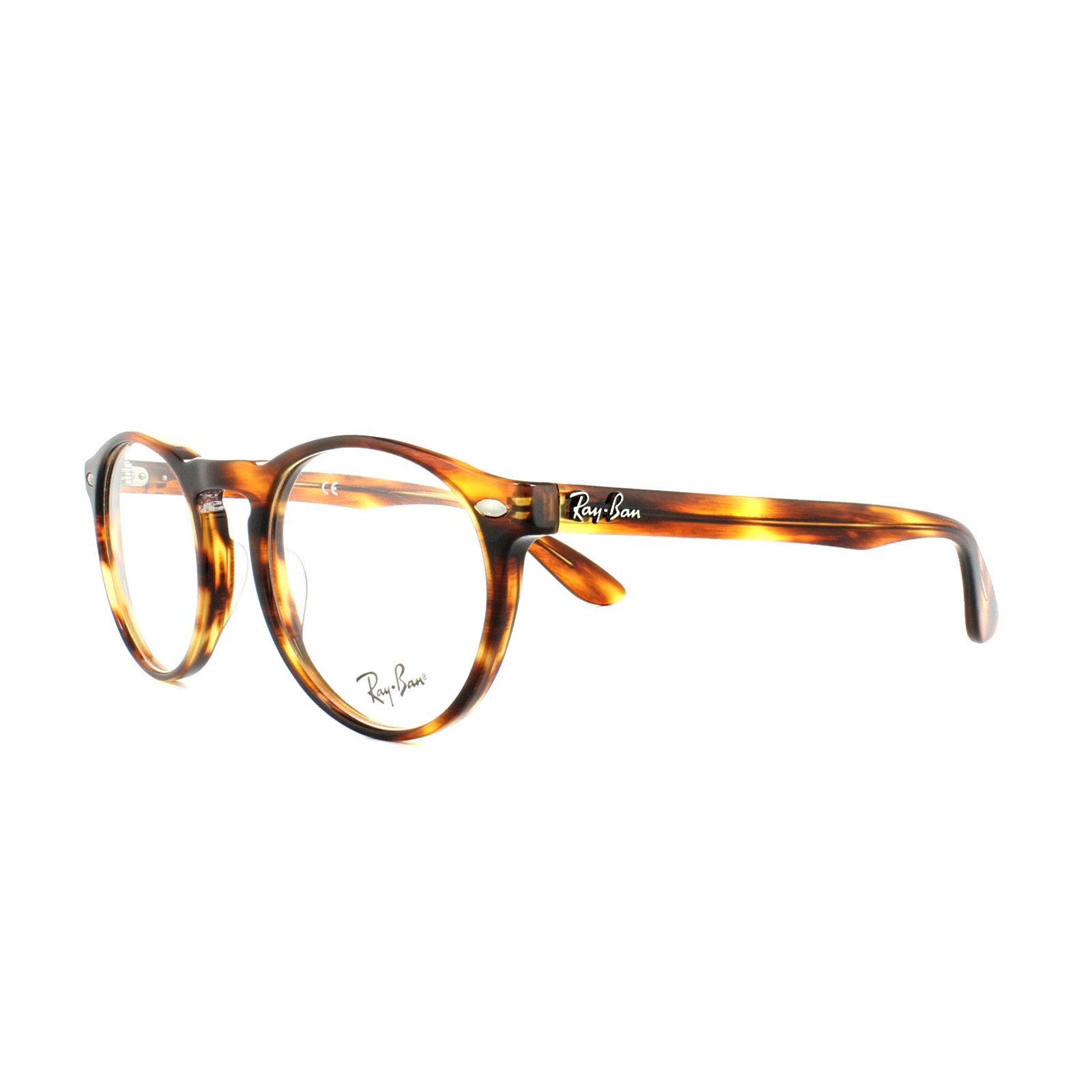 254884c405a Sentinel Ray-Ban Glasses Frames 5283 2144 Striped Havana Mens Womens 49mm