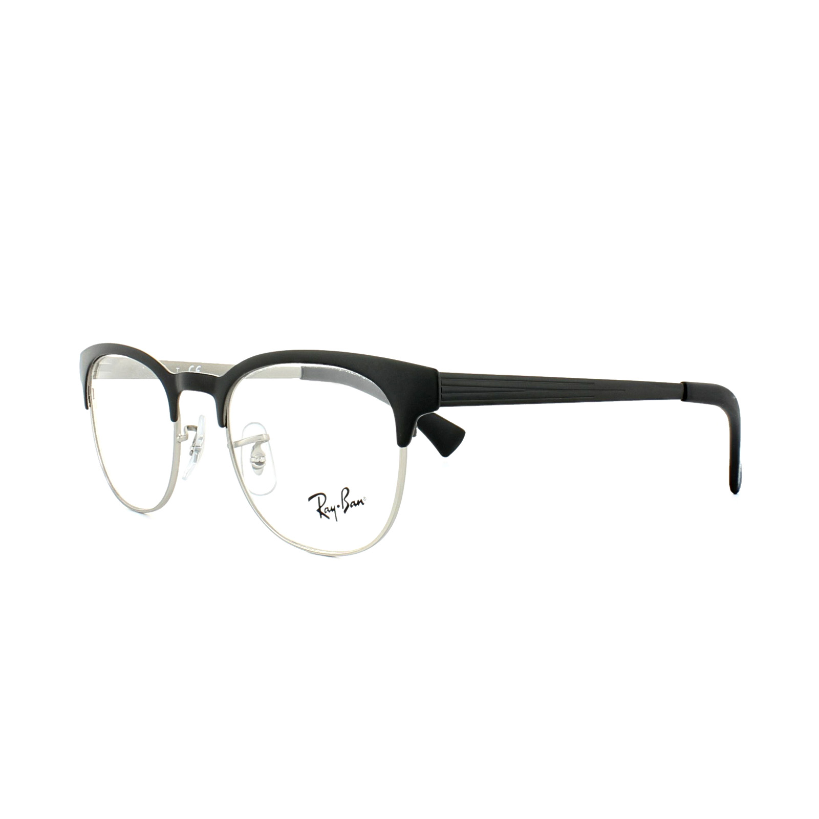 e3aca05763 Sentinel Ray-Ban Glasses Frames 6317 2832 Top Black on Matte Silver Mens  Womens 49mm