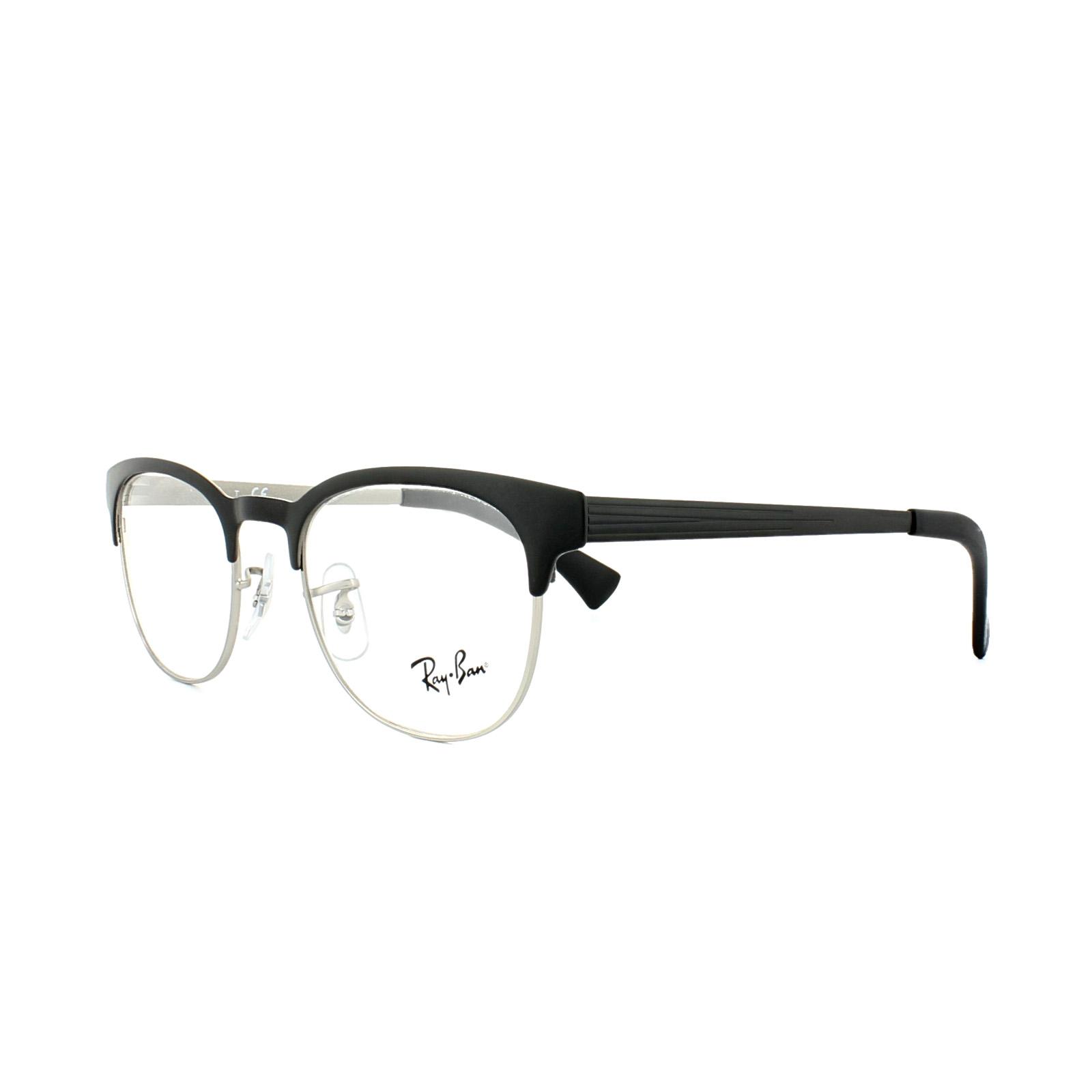 df0b16c86e2 Sentinel Ray-Ban Glasses Frames 6317 2832 Top Black on Matte Silver Mens  Womens 49mm