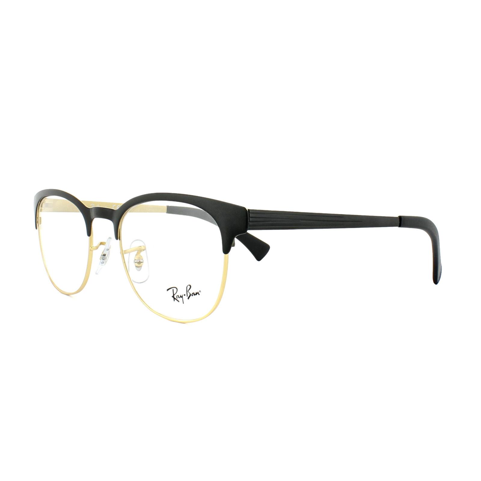 18c1287fd6 Sentinel Ray-Ban Glasses Frames 6317 2833 Top Black on Matte Gold Mens  Womens 51mm