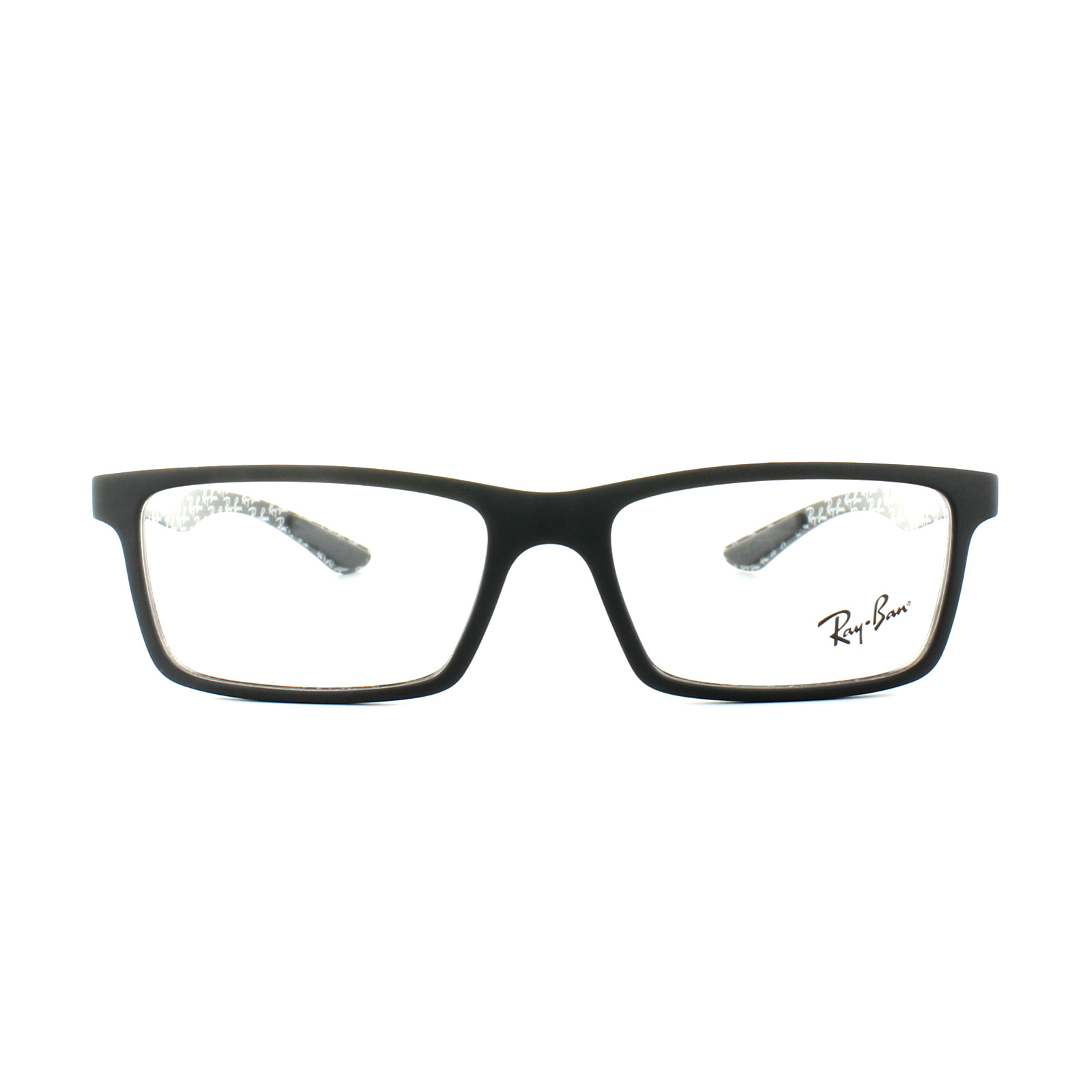 8ec71c22c6e39 Sentinel Ray-Ban Glasses Frames 8901 5263 Demi Gloss Black Mens 53mm