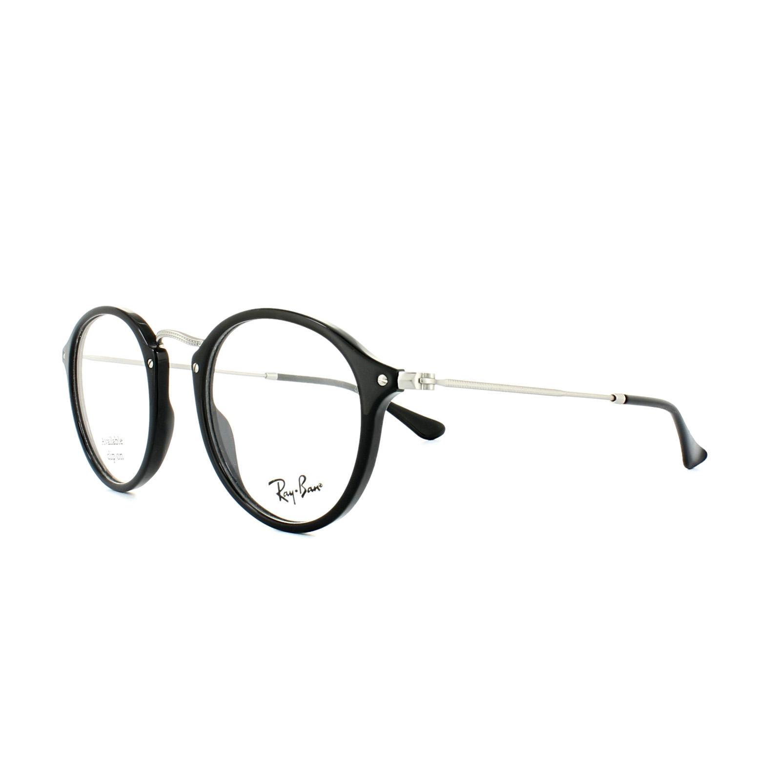 e2bbd09f9cc Sentinel Ray-Ban Glasses Frames 2447V 2000 Shiny Black Mens Womens 47mm
