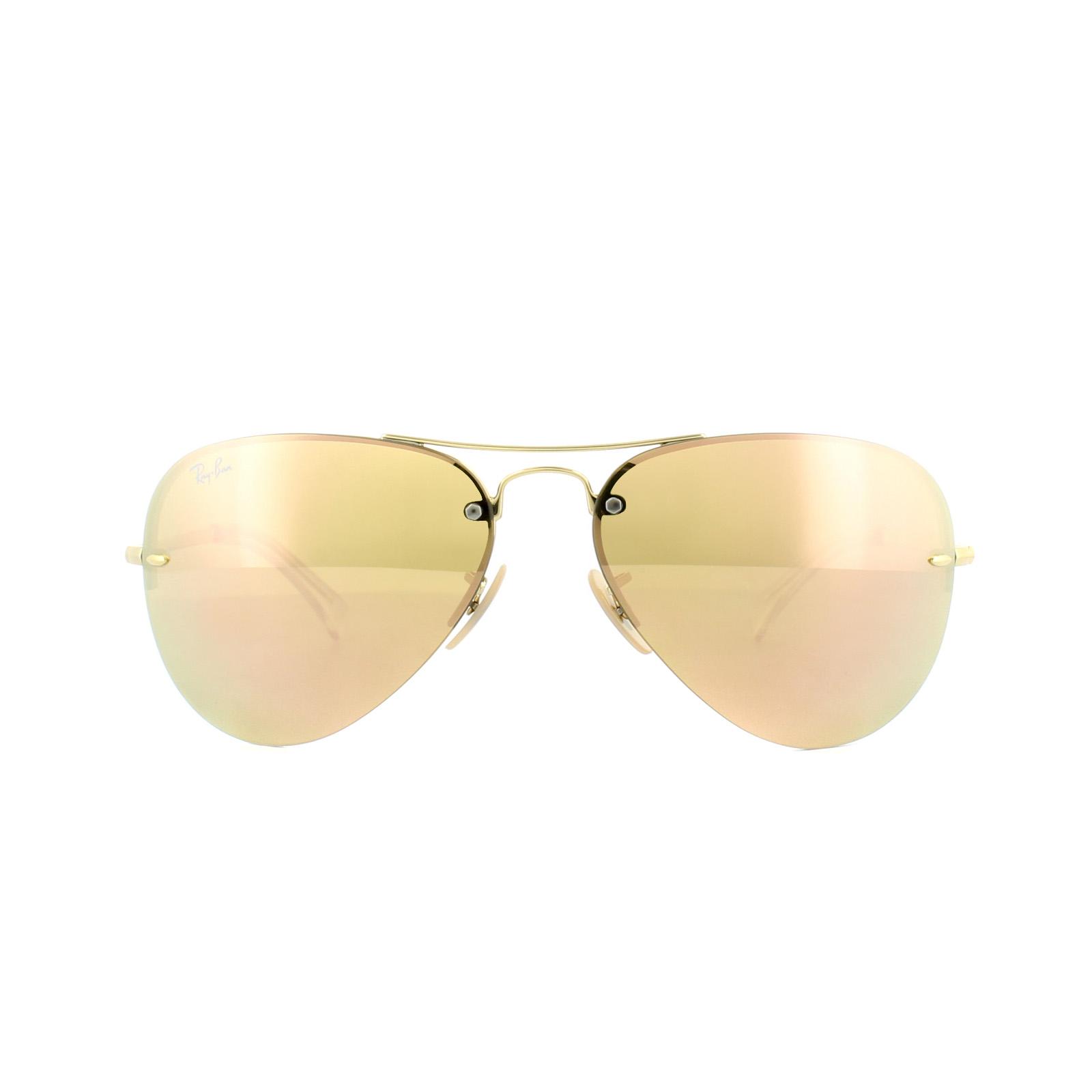 a7f602a6fb6 Ray-Ban Sunglasses 3449 001 2Y Gold Copper Mirror 8053672508093