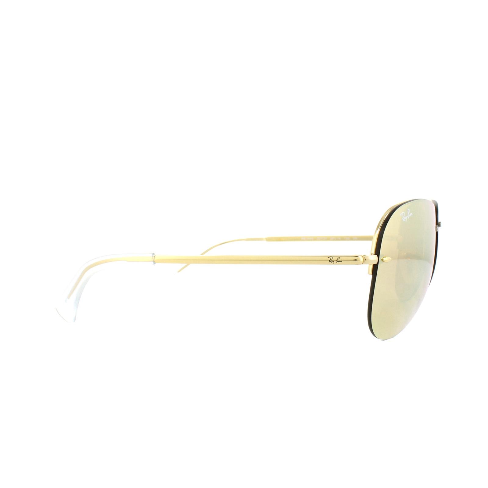 6390446f6734 Ray-Ban Sunglasses 3449 001 2Y Gold Copper Mirror 8053672508093
