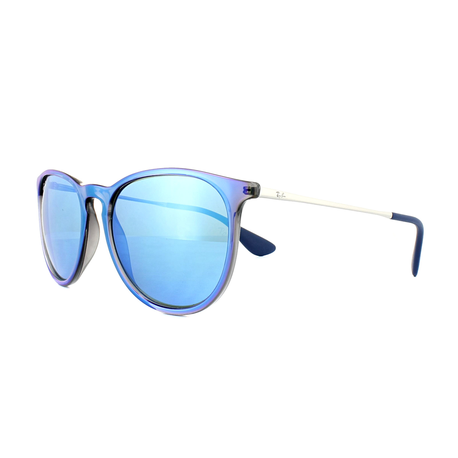 9bed144ca83 Sentinel Ray-Ban Sunglasses Erika 4171 631855 Blue Silver Blue Mirror