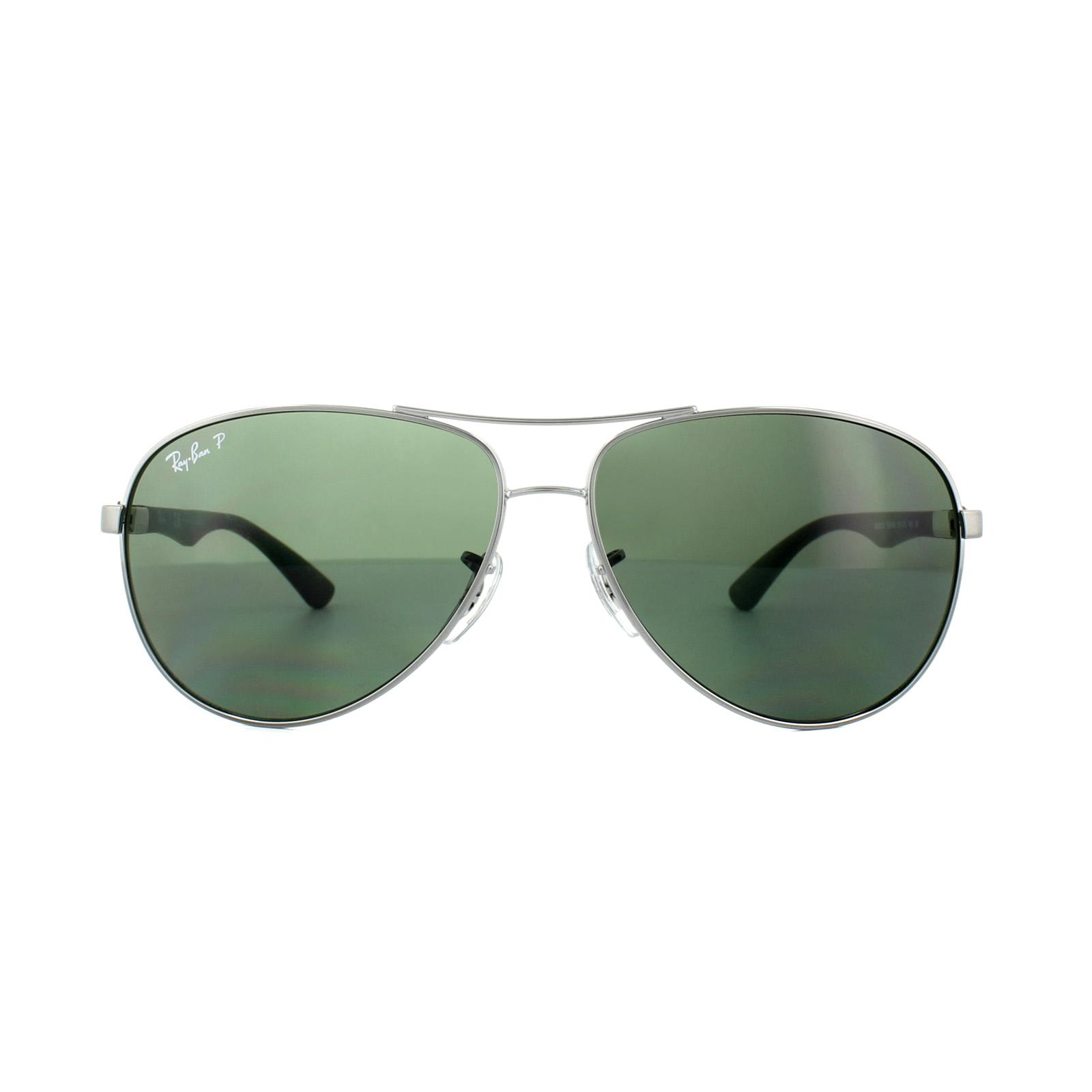 ef3e15e761 Sentinel Ray-Ban Sunglasses 8313 004 N5 Gunmetal Grey Polarized 61mm Large