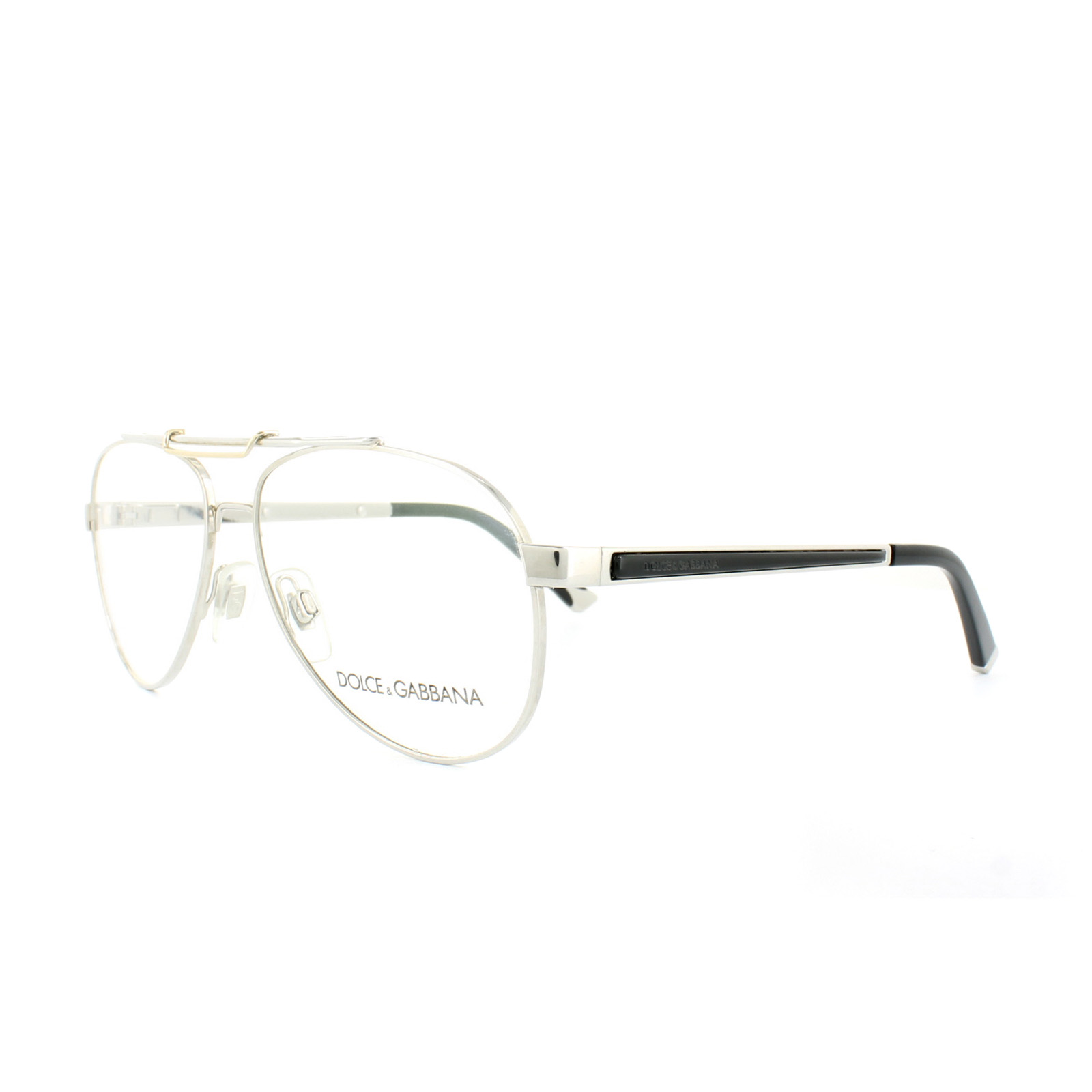 Dolce and Gabbana Glasses Frames DG 1223 05 Silver Mens 56mm ...