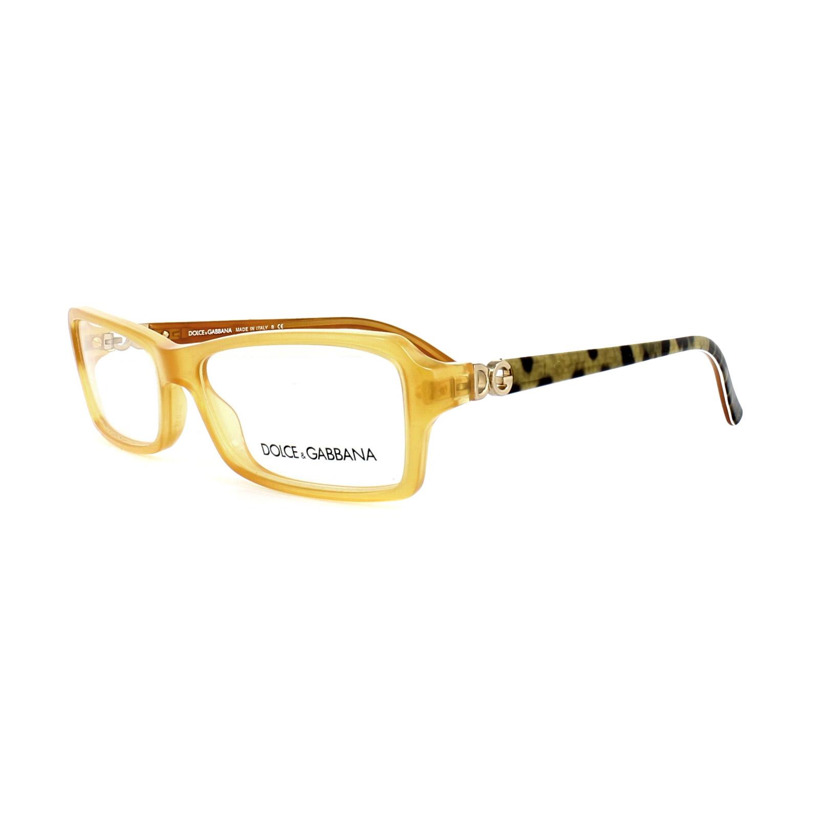 d1ab4de23189 Sentinel Dolce and Gabbana Glasses Frames DG 3101 1833 Yellow Womens 52mm